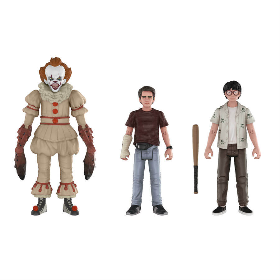 IT Pennywise, Richie and Eddie Action Figures 3-Pack