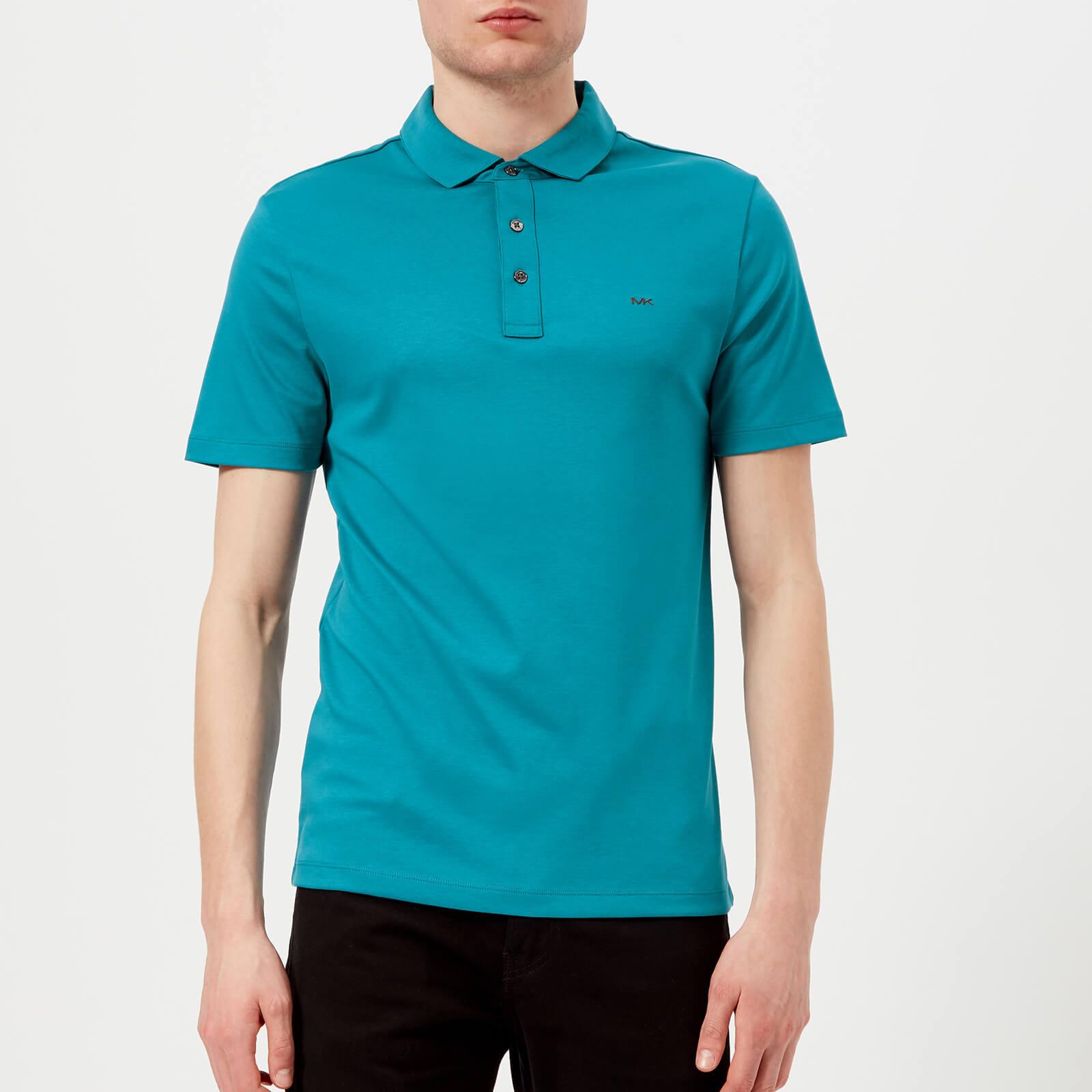 fda61eaa Michael Kors Men's Liquid Jersey Short Sleeve Polo Shirt - Coast Blue  Clothing | TheHut.com