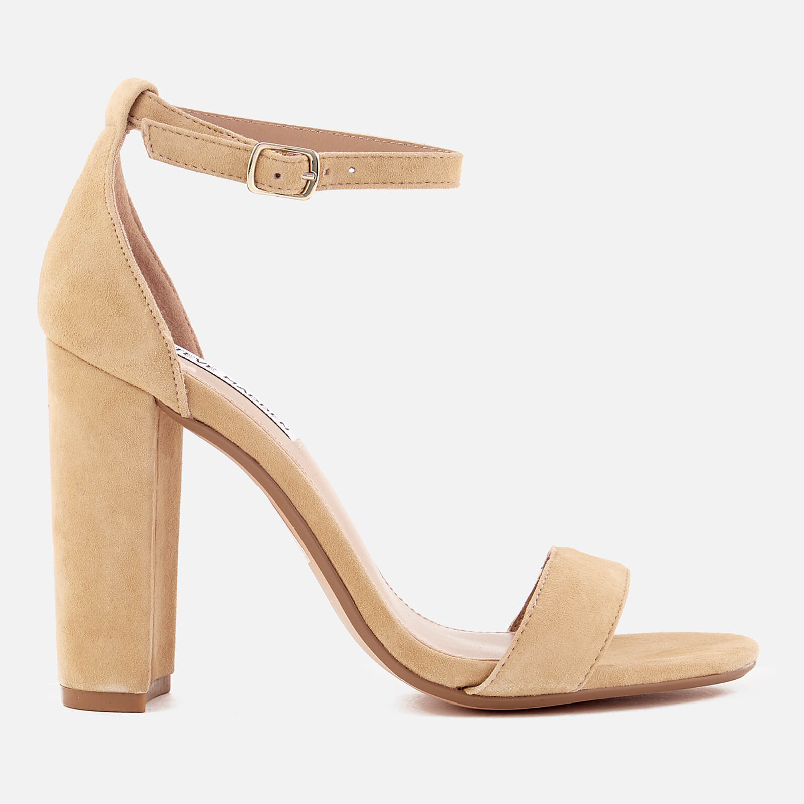 ef3edeefd8e Steve Madden Women s Carrson Suede Barely There Heeled Sandals - Sand Womens  Accessories