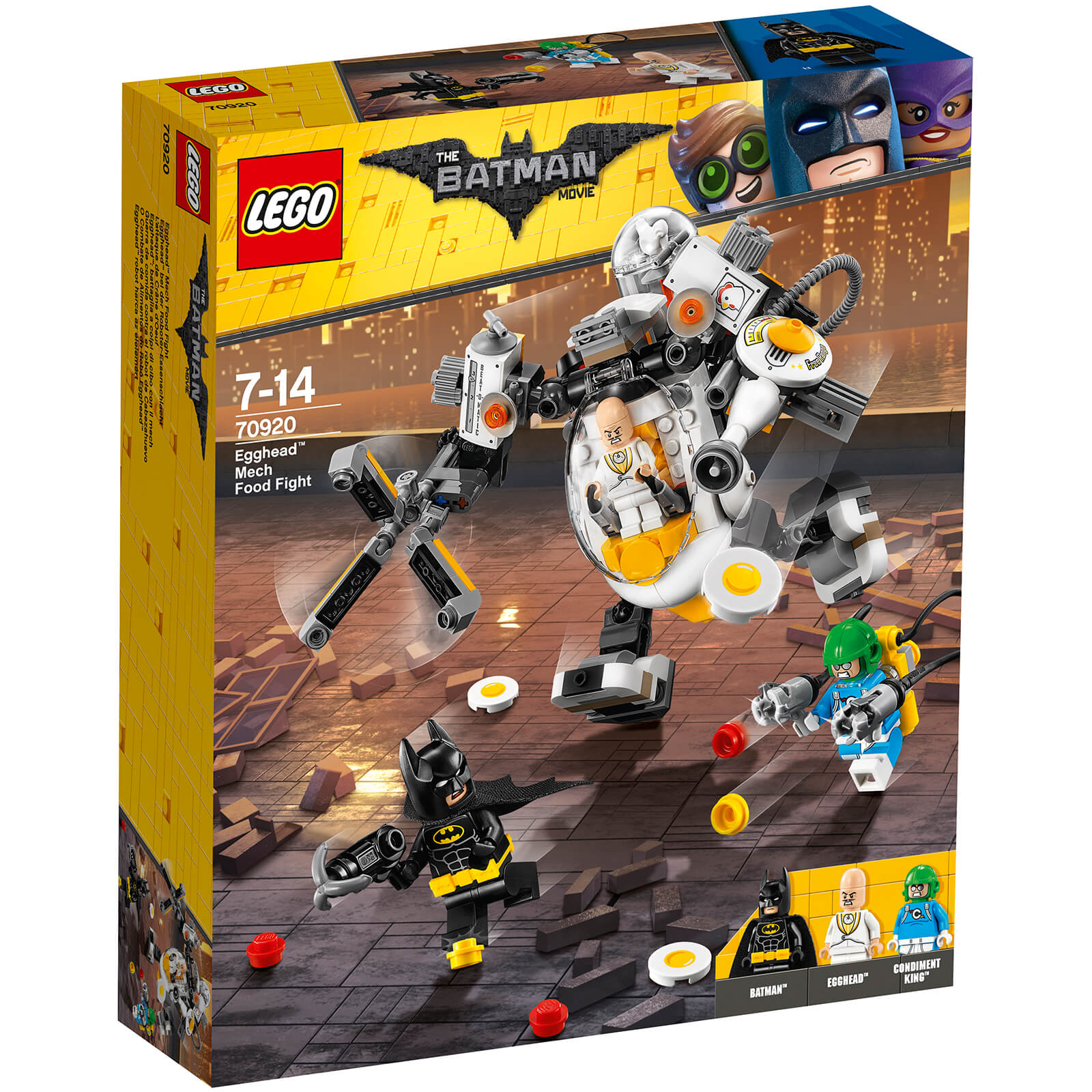 The Lego Batman Movie Egghead Mech Food Fight 70920 Toys Zavvi Us Tee Description