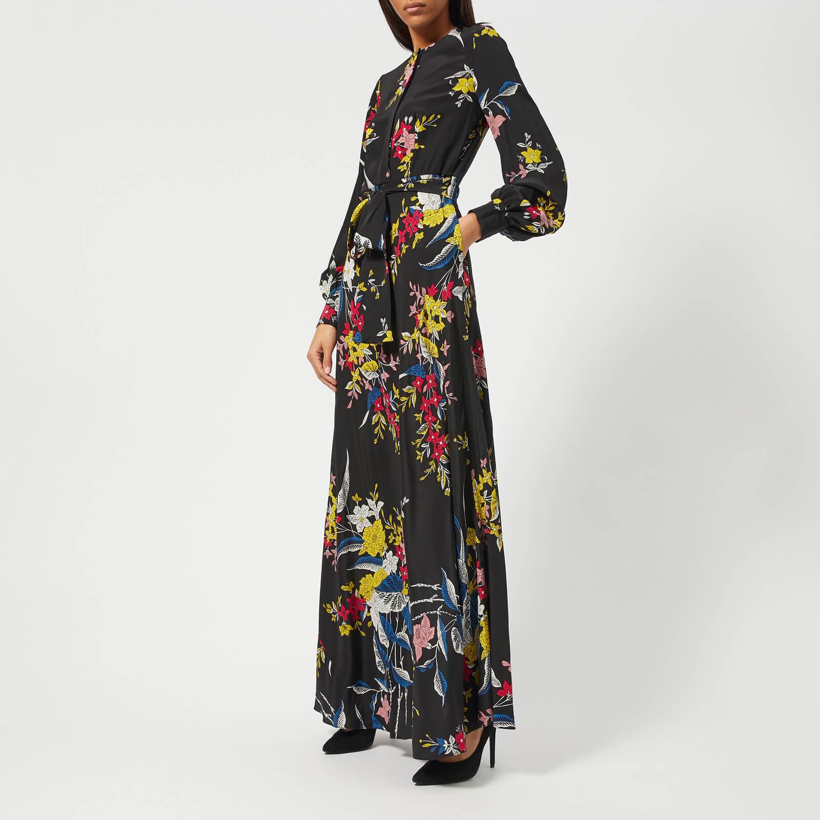 6147faf059b Diane von Furstenberg Women s Waist Tie Maxi Dress - Camden Black - Free UK  Delivery over £50