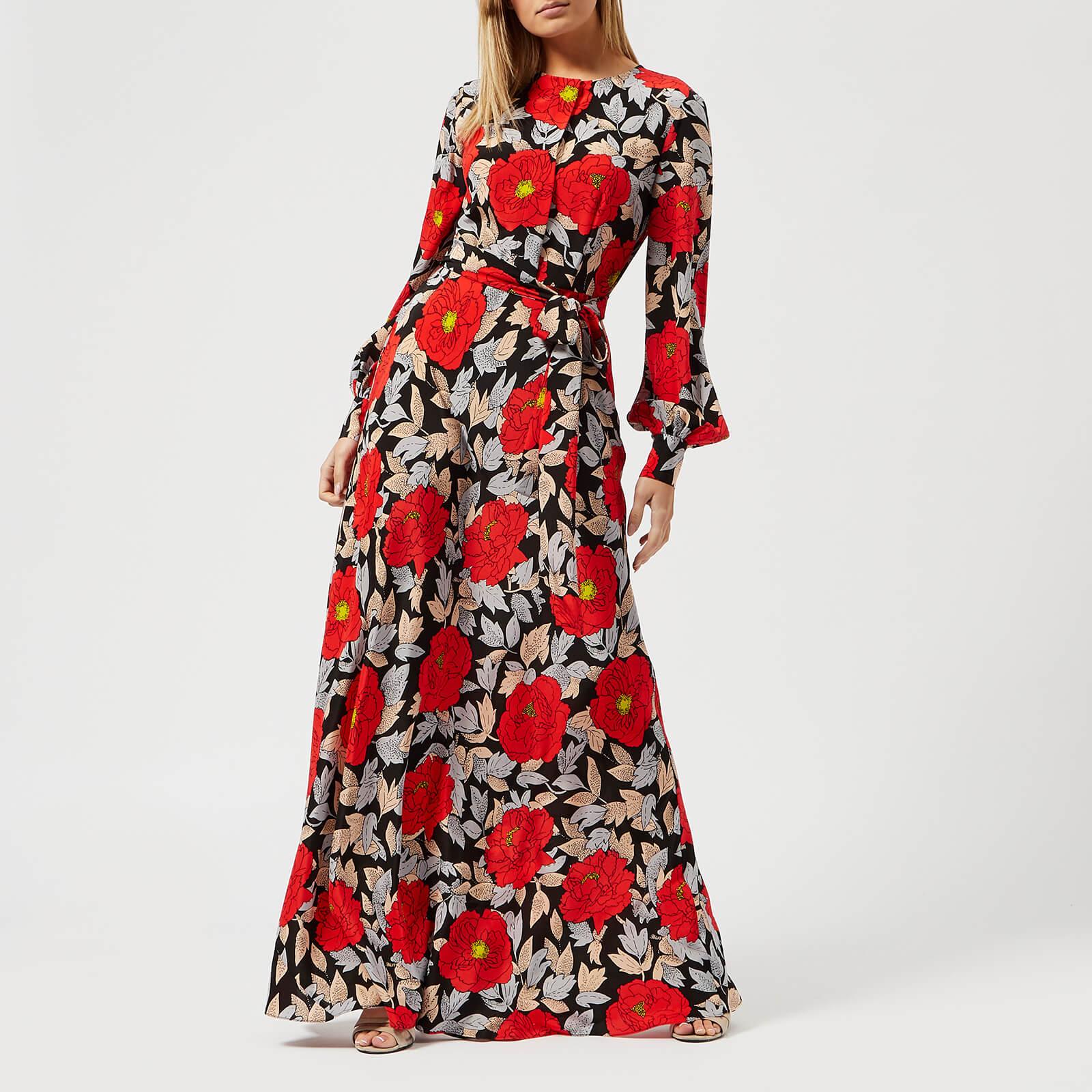 3bf21388164 Diane von Furstenberg Women s Waist Tie Maxi Dress - Boswell Black - Free  UK Delivery over £50
