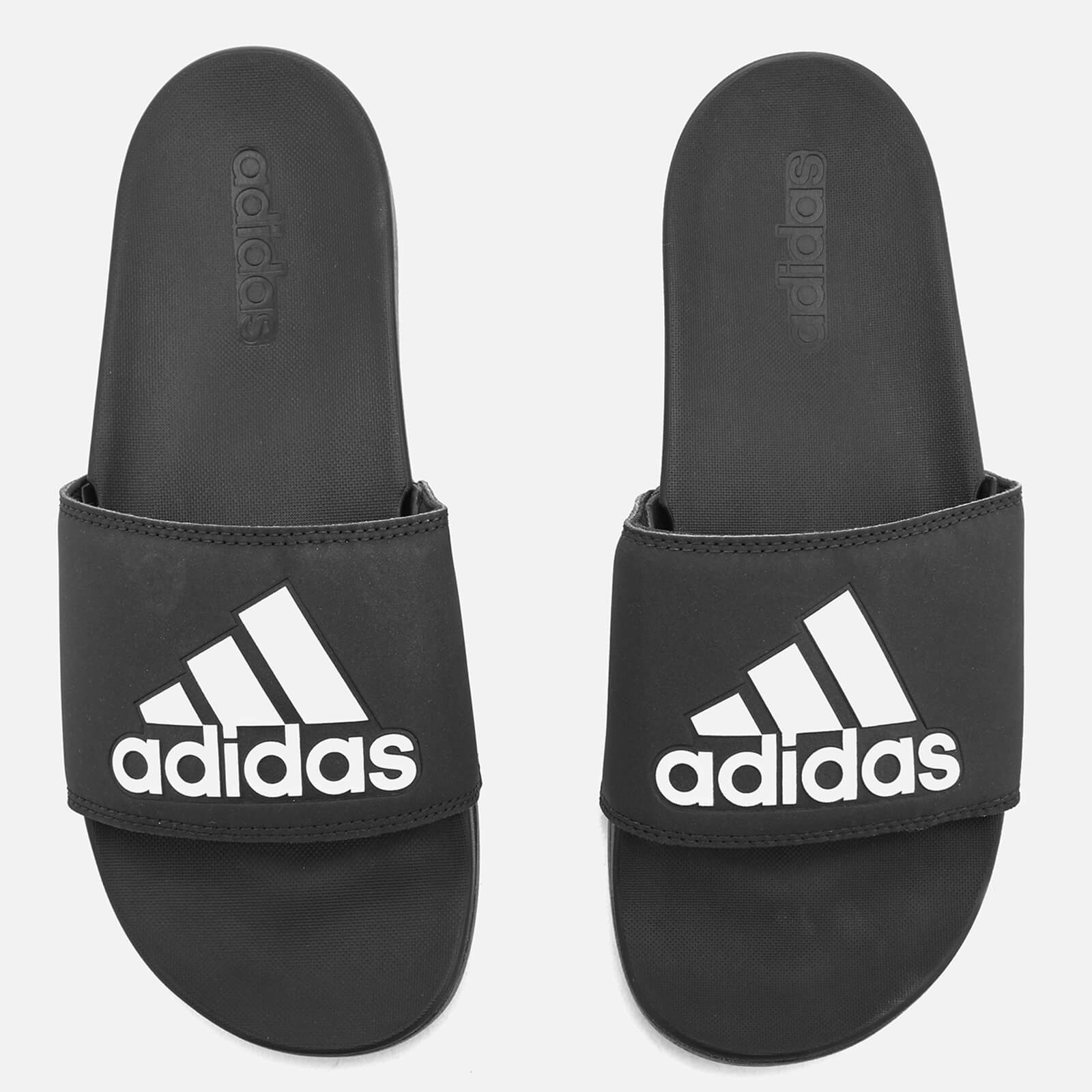 6400e42a5e adidas Men s Adilette Logo Slide Sandals - Core Black Sports   Leisure