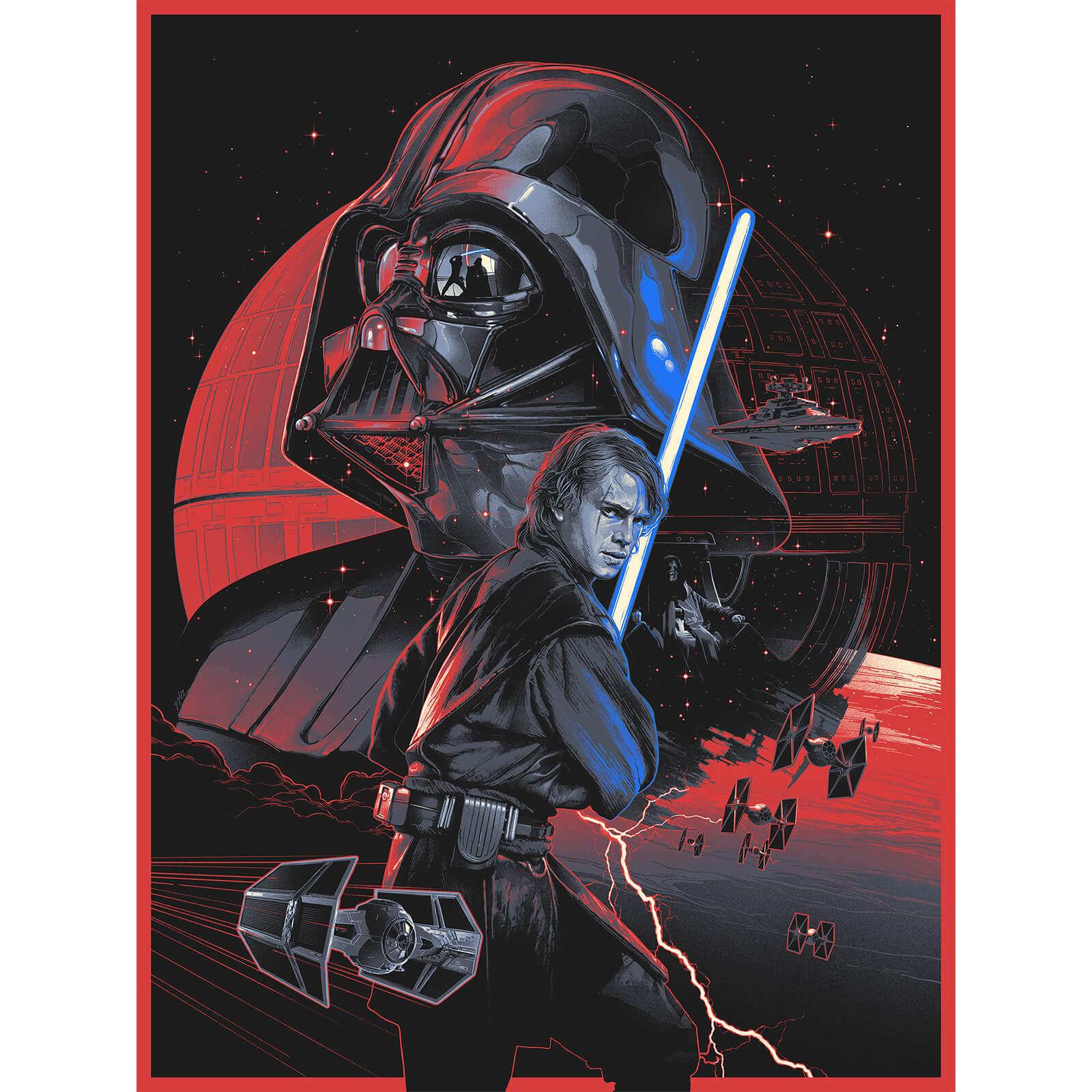 Star Wars Revenge Of The Sith Anakin S Path Silkscreen Print By Gabz 18 X 24 Zavvi Uk Exclusive Timed Sale Merchandise Zavvi Us