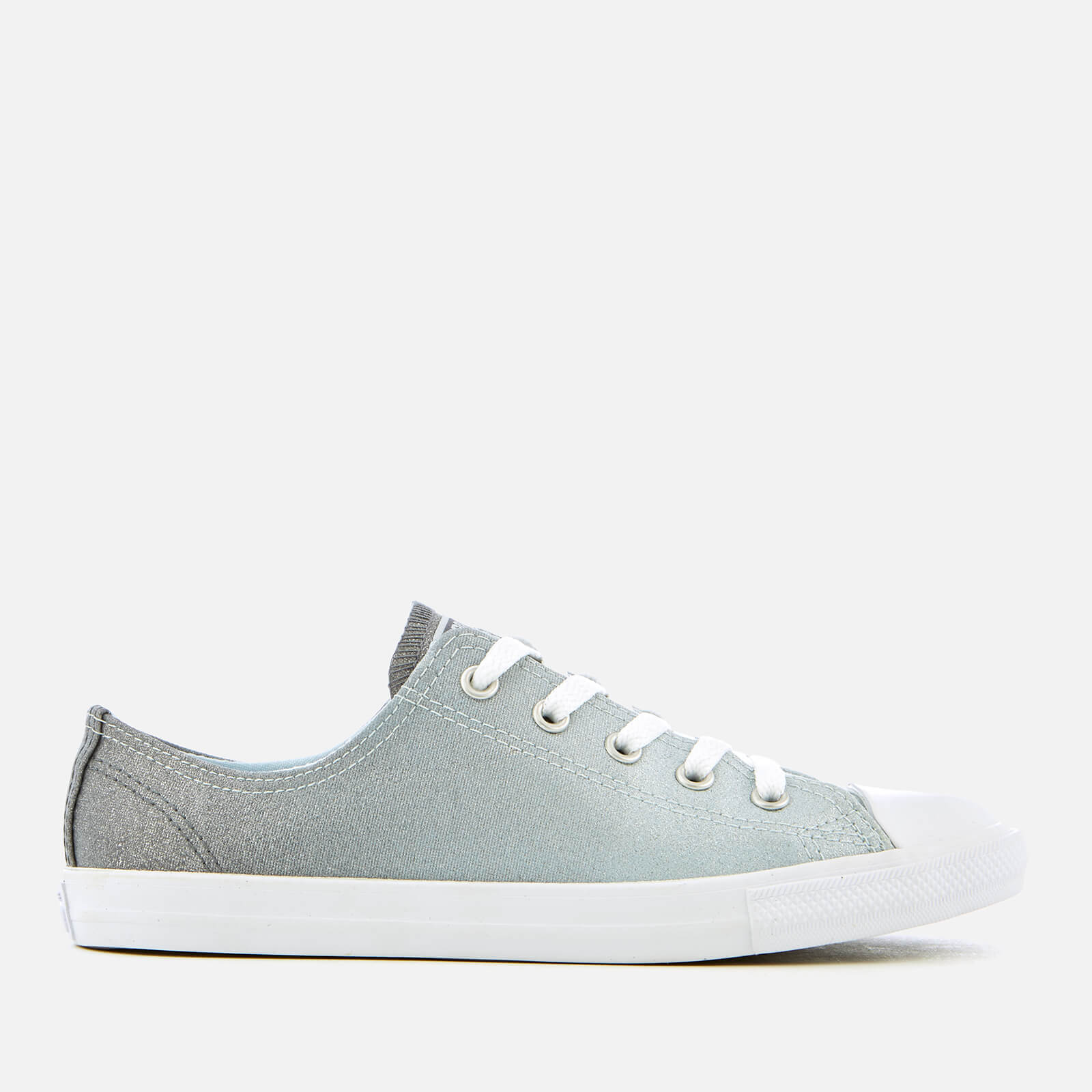 bd16d8f8d36ff2 Converse Women s Chuck Taylor All Star Dainty Ox Trainers - Blue Tint Light  Carbon Womens Footwear