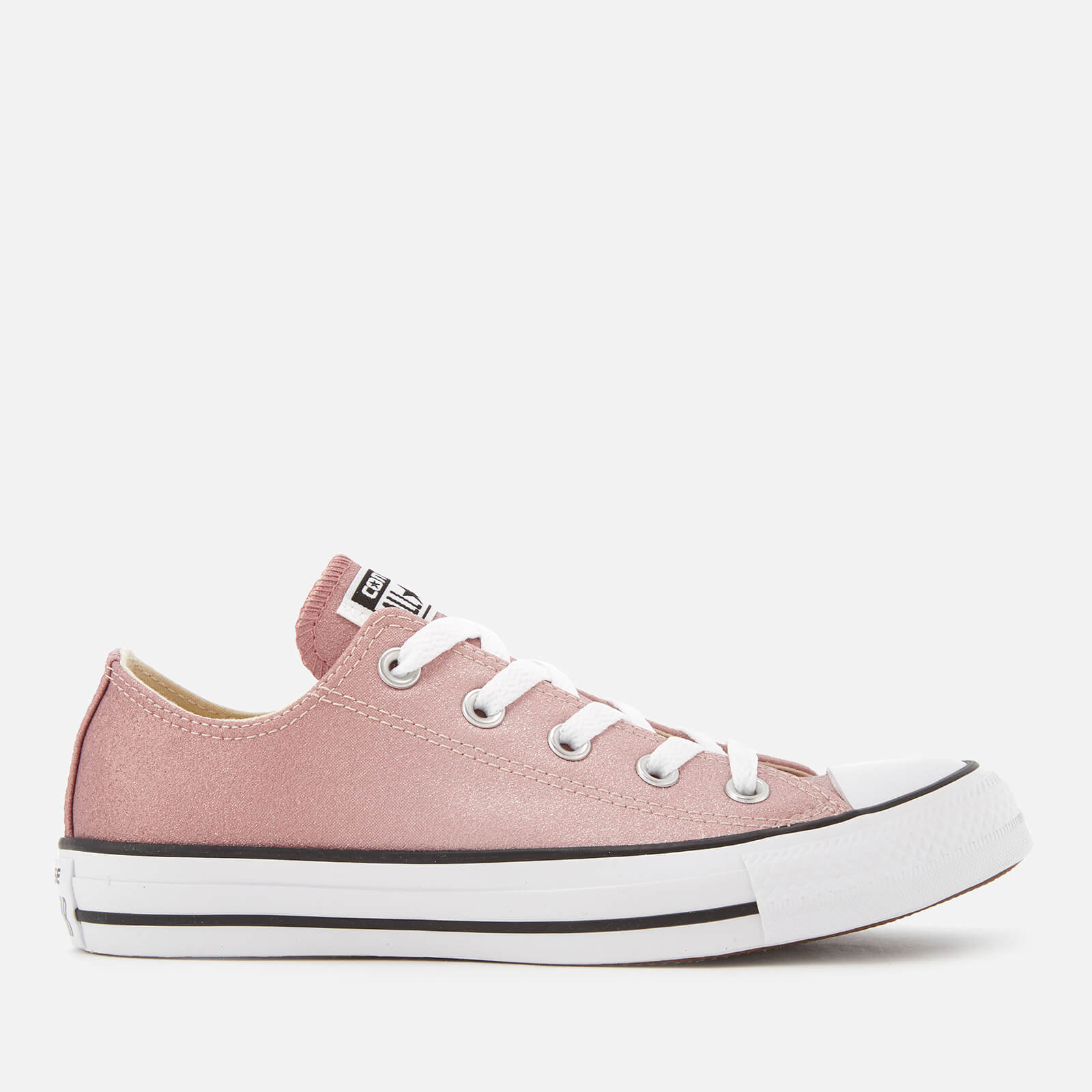 7851b0d04e48b9 Converse Women s Chuck Taylor All Star Ox Trainers - Particle Beige Saddle  White Womens Footwear