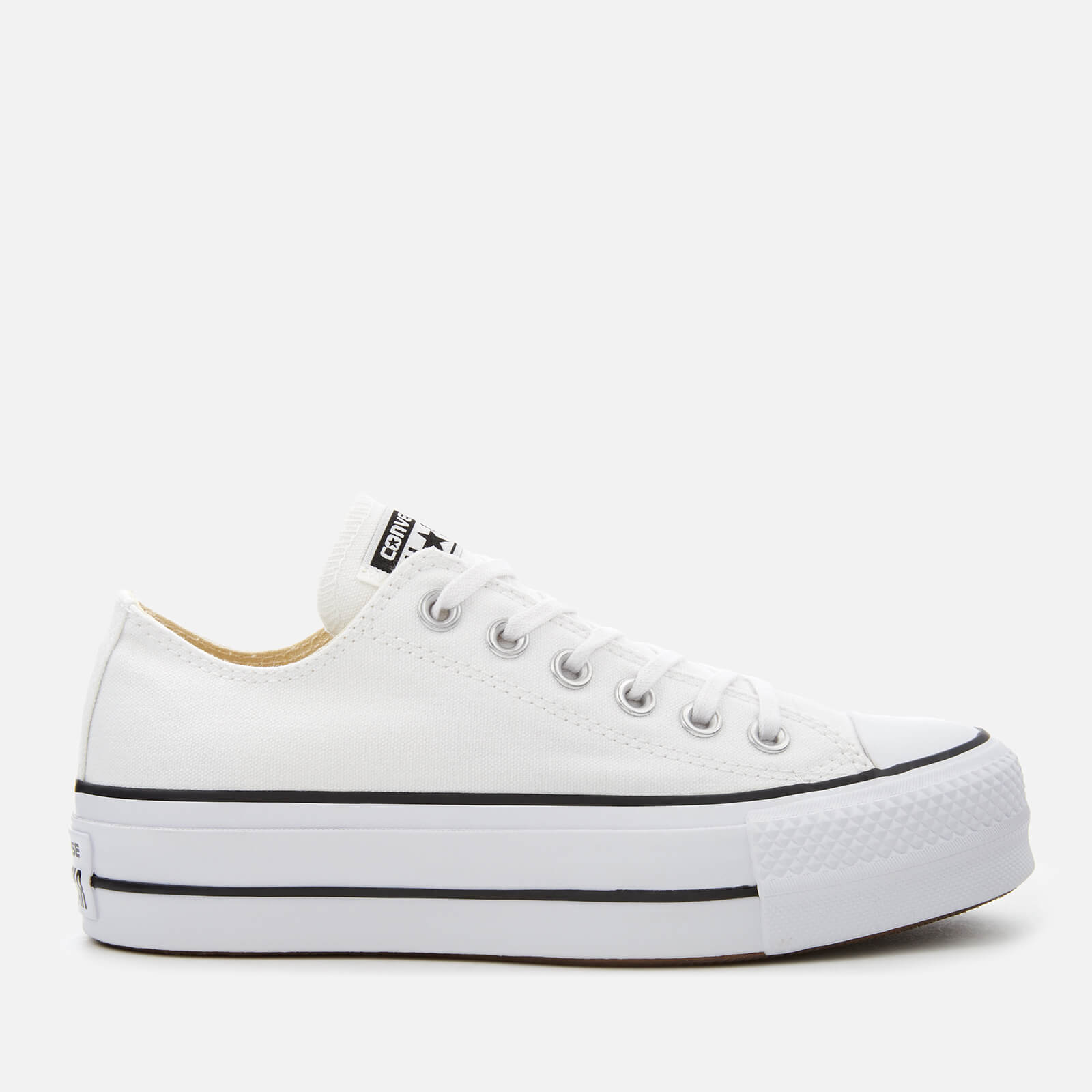 df3c4e9bf928 Converse Women s Chuck Taylor All Star Lift Ox Trainers - White Black Womens  Footwear