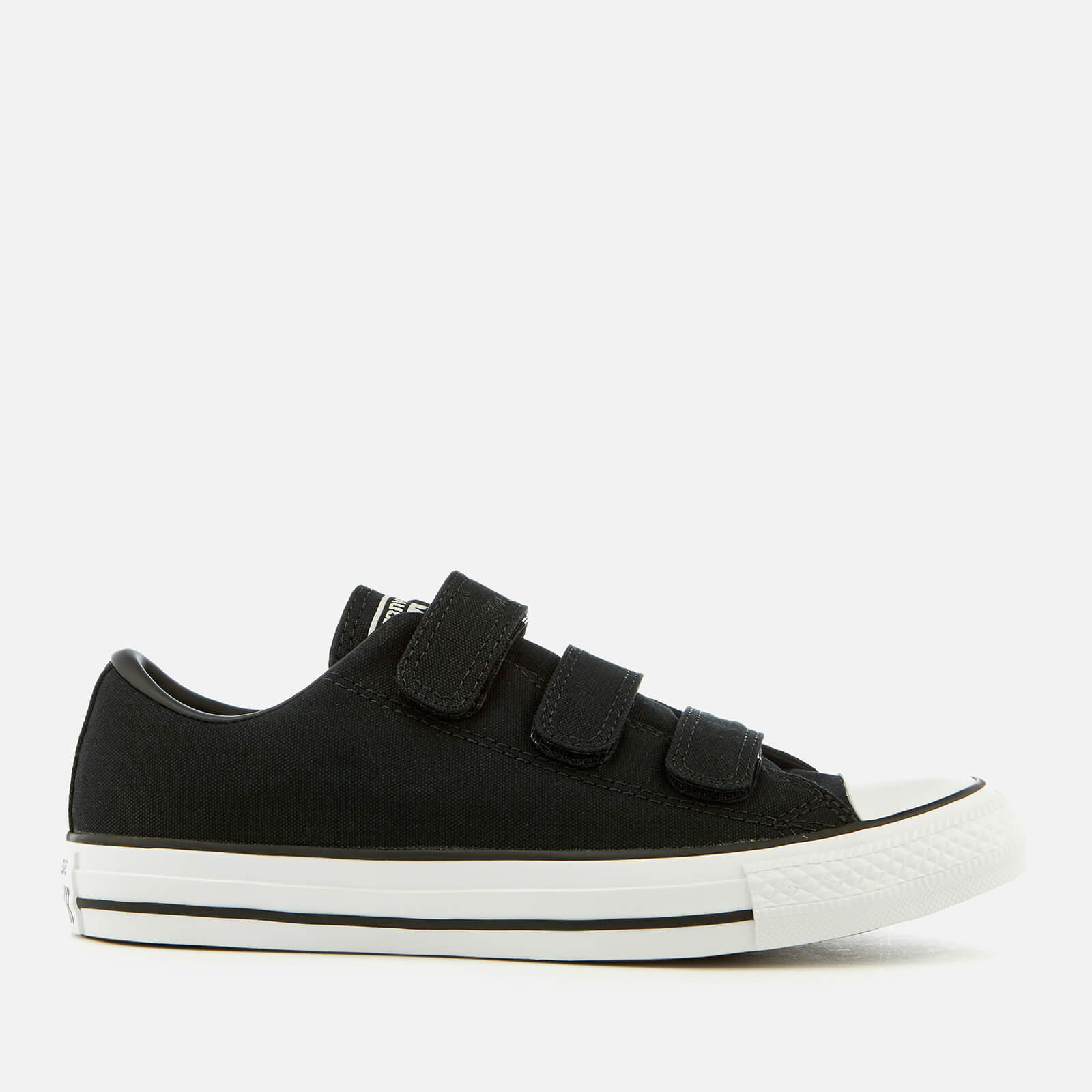 abdb2cc743910a Converse Chuck Taylor All Star 3V Ox Trainers - Black/White Mens Footwear |  TheHut.com