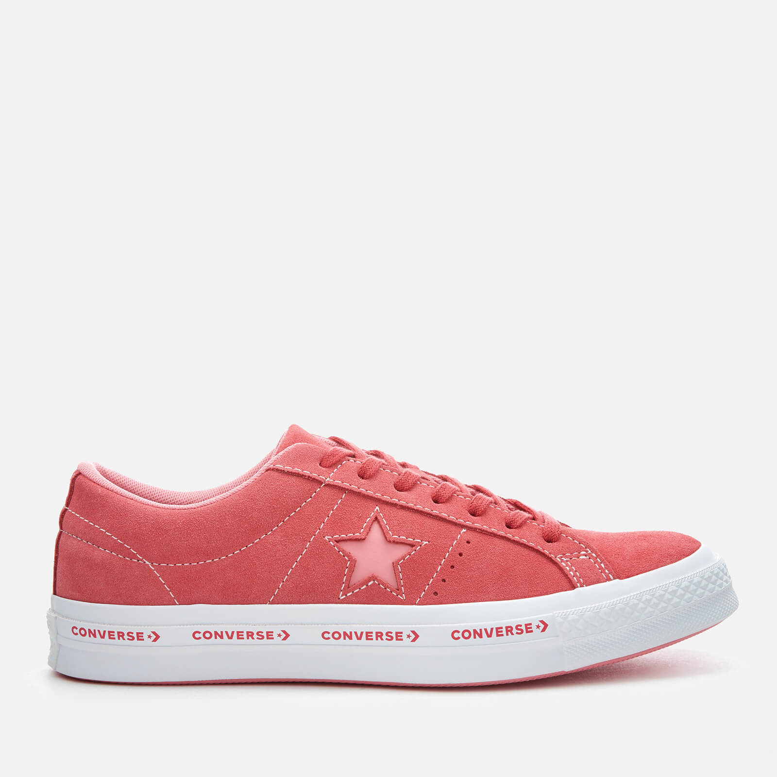 d80304ae2a20 Converse One Star Ox Trainers - Paradise Pink Geranium Pink White Mens  Footwear