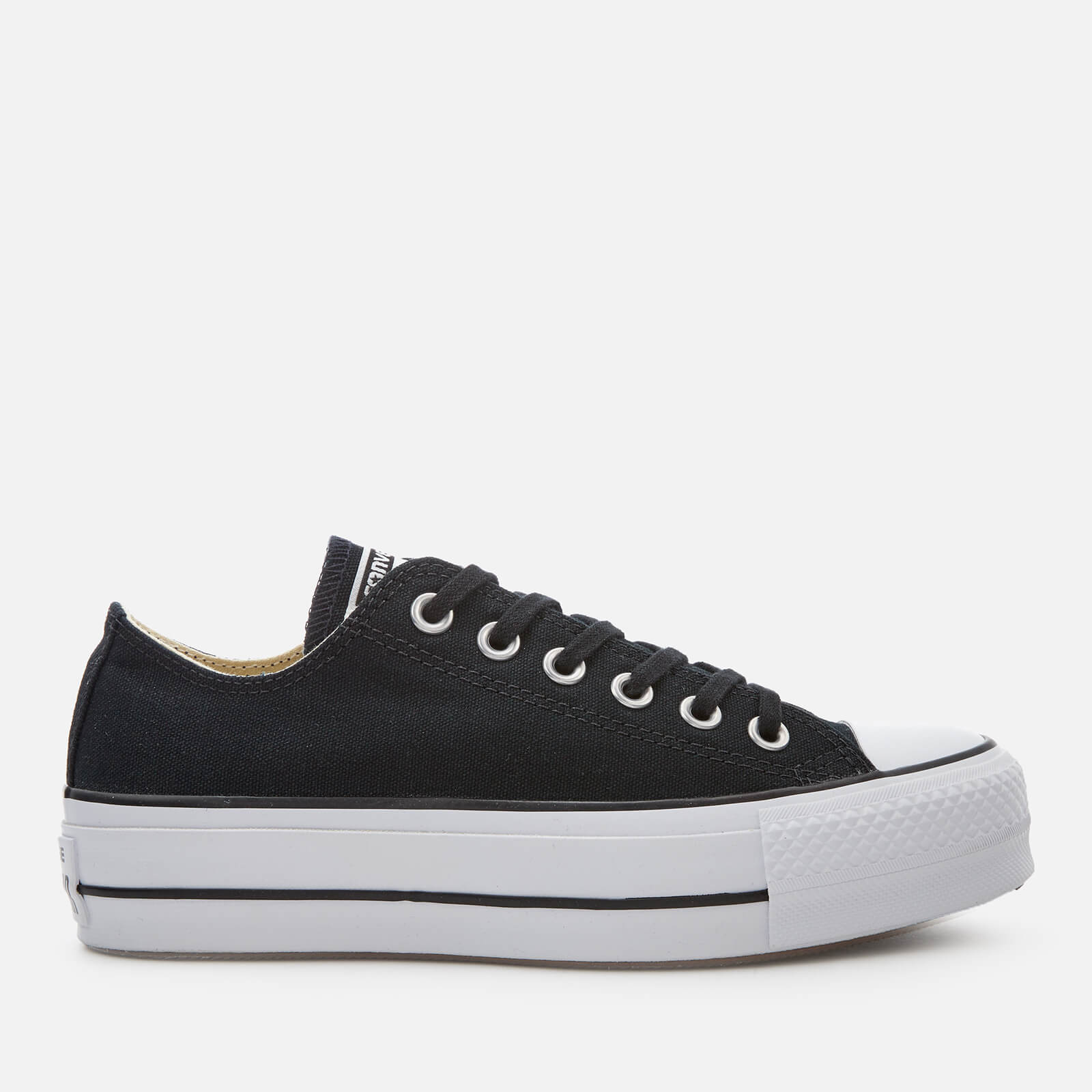 e1cc288f50f6 Converse Women s Chuck Taylor All Star Lift Ox Trainers - Black White  Womens Footwear