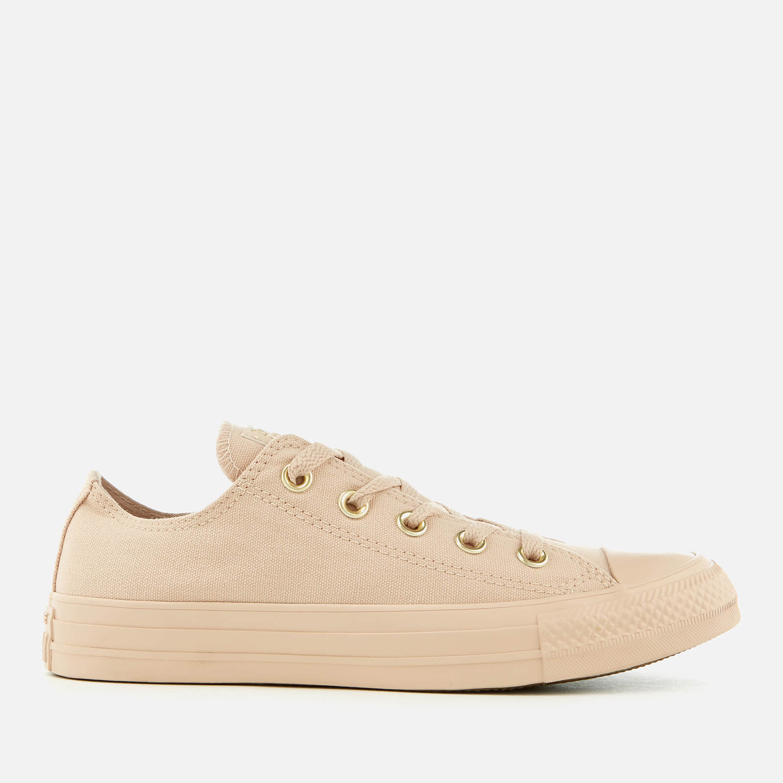 b33848ad158b Converse Women s Chuck Taylor All Star Ox Trainers - Particle Beige Womens  Footwear
