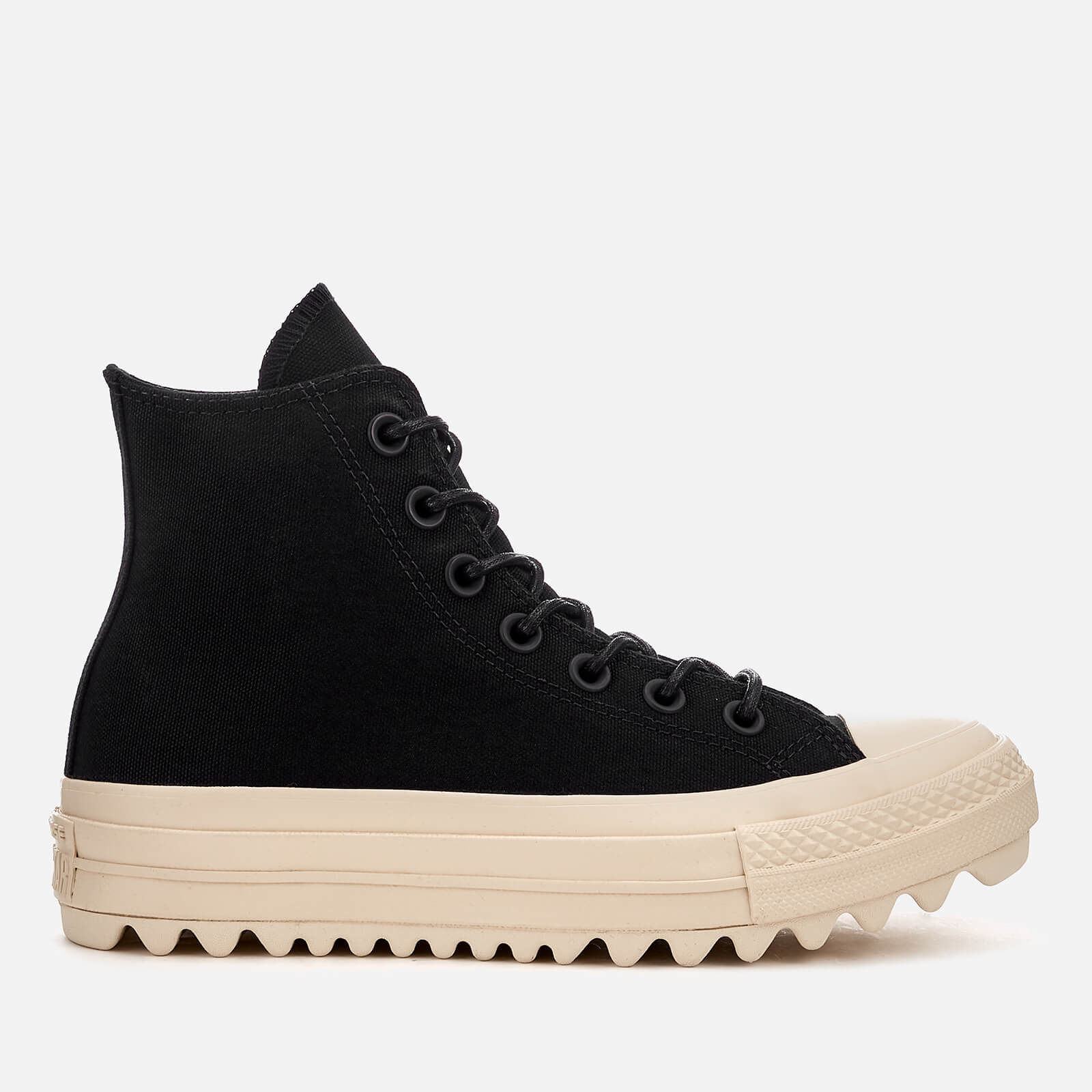 50f080a43 Converse Women's Chuck Taylor All Star Lift Ripple Hi-Top Trainers - Black/ Natural | FREE UK Delivery | Allsole
