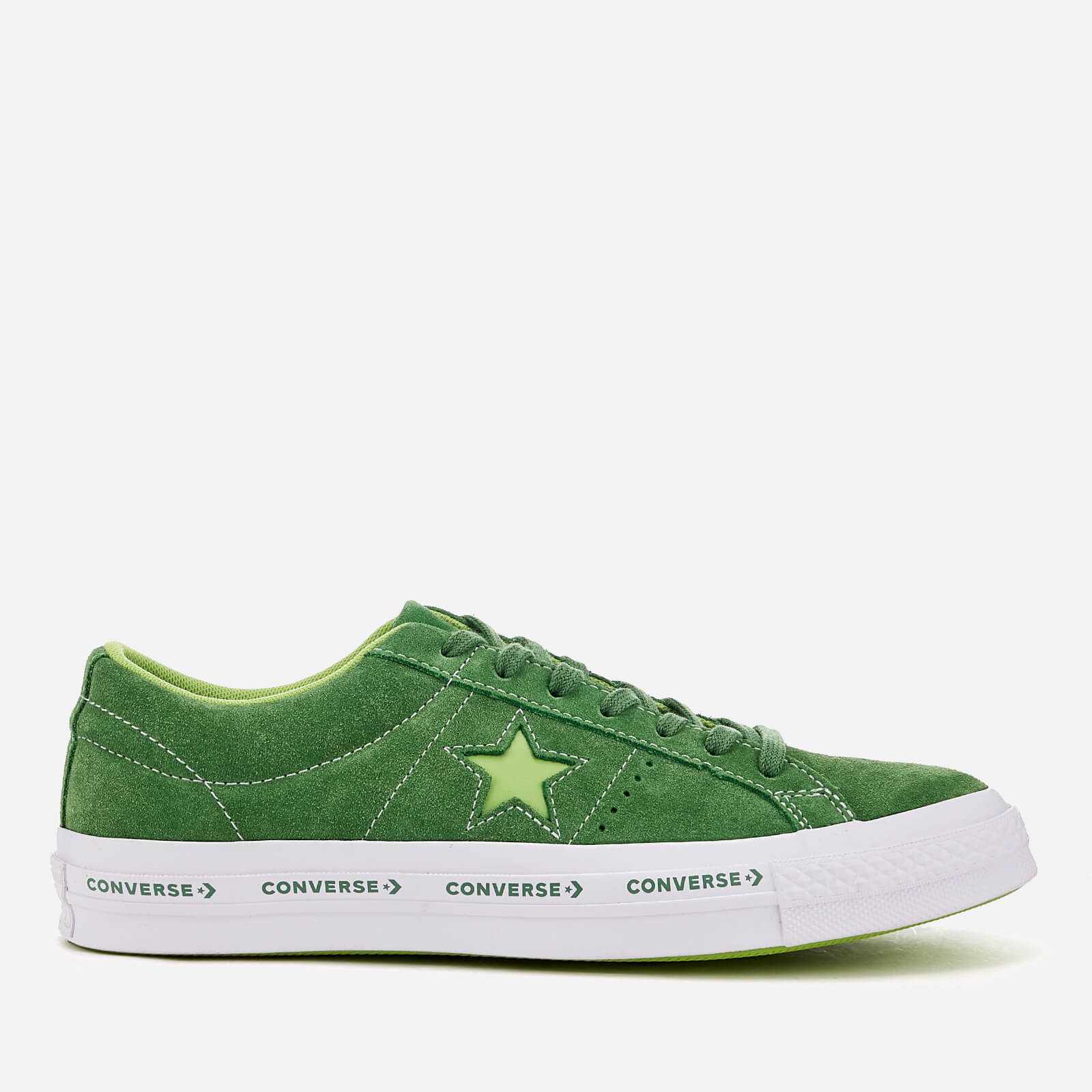 240ac786a59d04 Converse One Star Ox Trainers - Mint Green Jade Lime White Mens Footwear