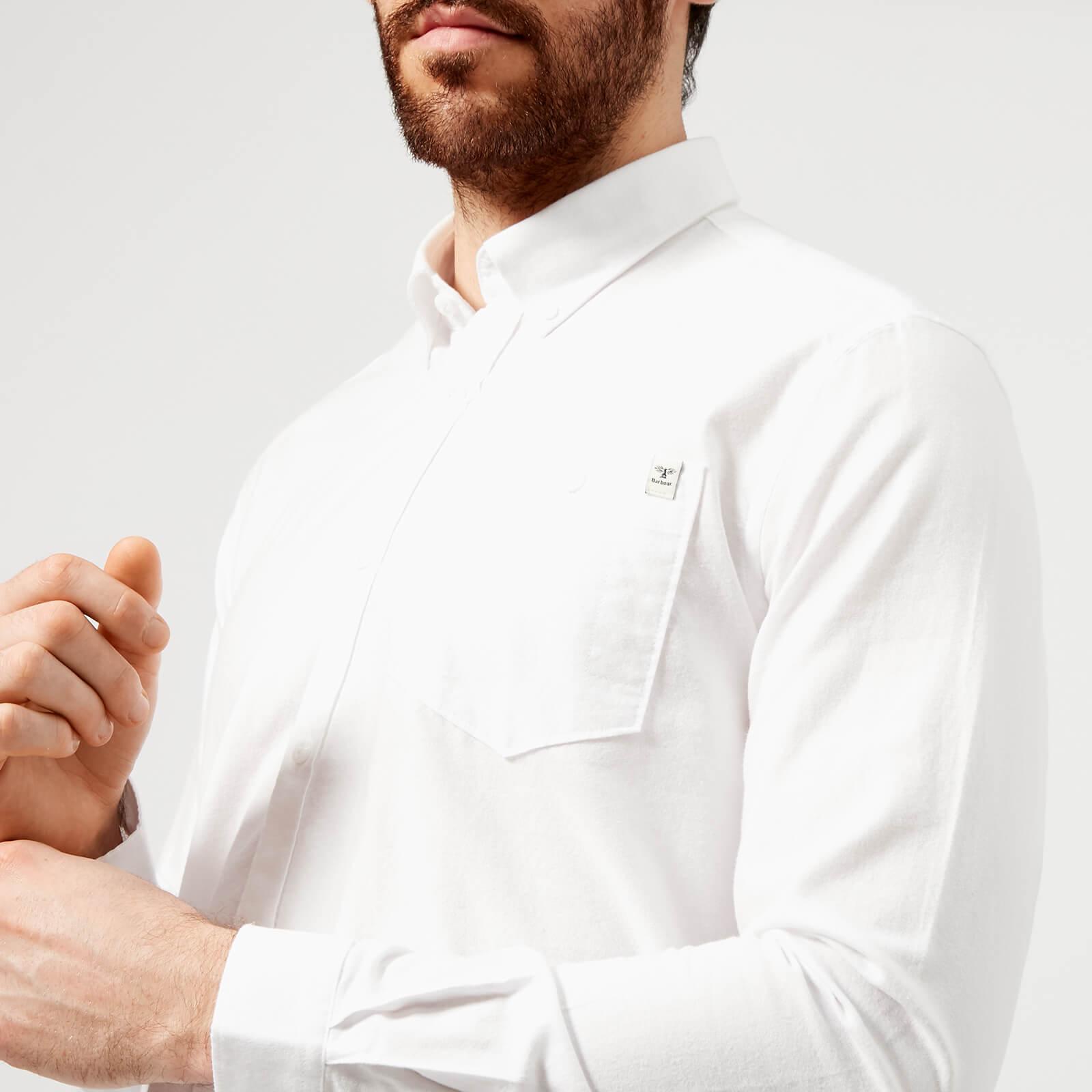 da7a5e28f156 Barbour Heritage Men s Lang Long Sleeve Shirt - White - Free UK ...