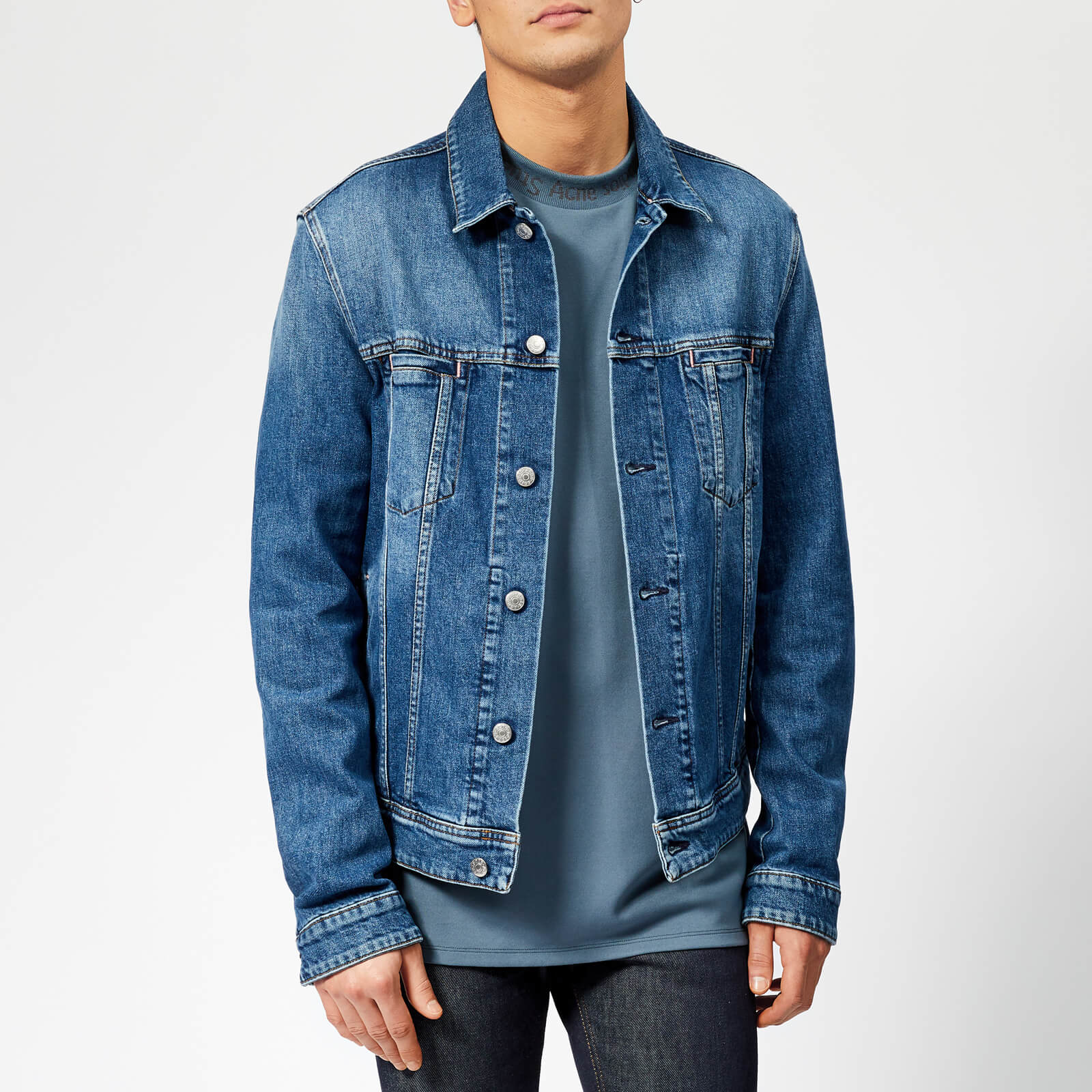 0b03fbcfe37 Acne Studios Men s Pass Denim Jacket - Mid Blu - Free UK Delivery over £50
