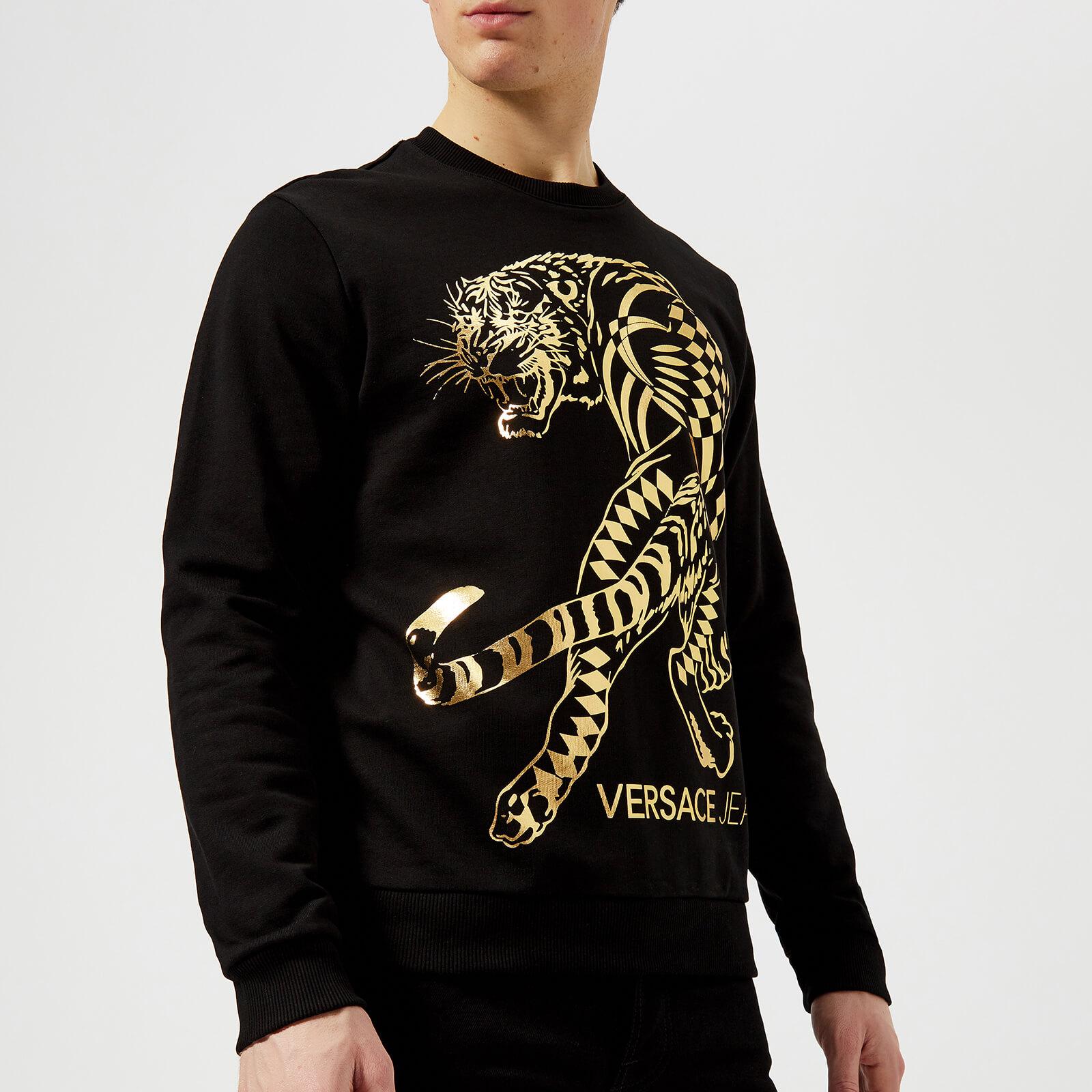 cf40b39892 Versace Jeans Tiger Logo Sweatshirt Black