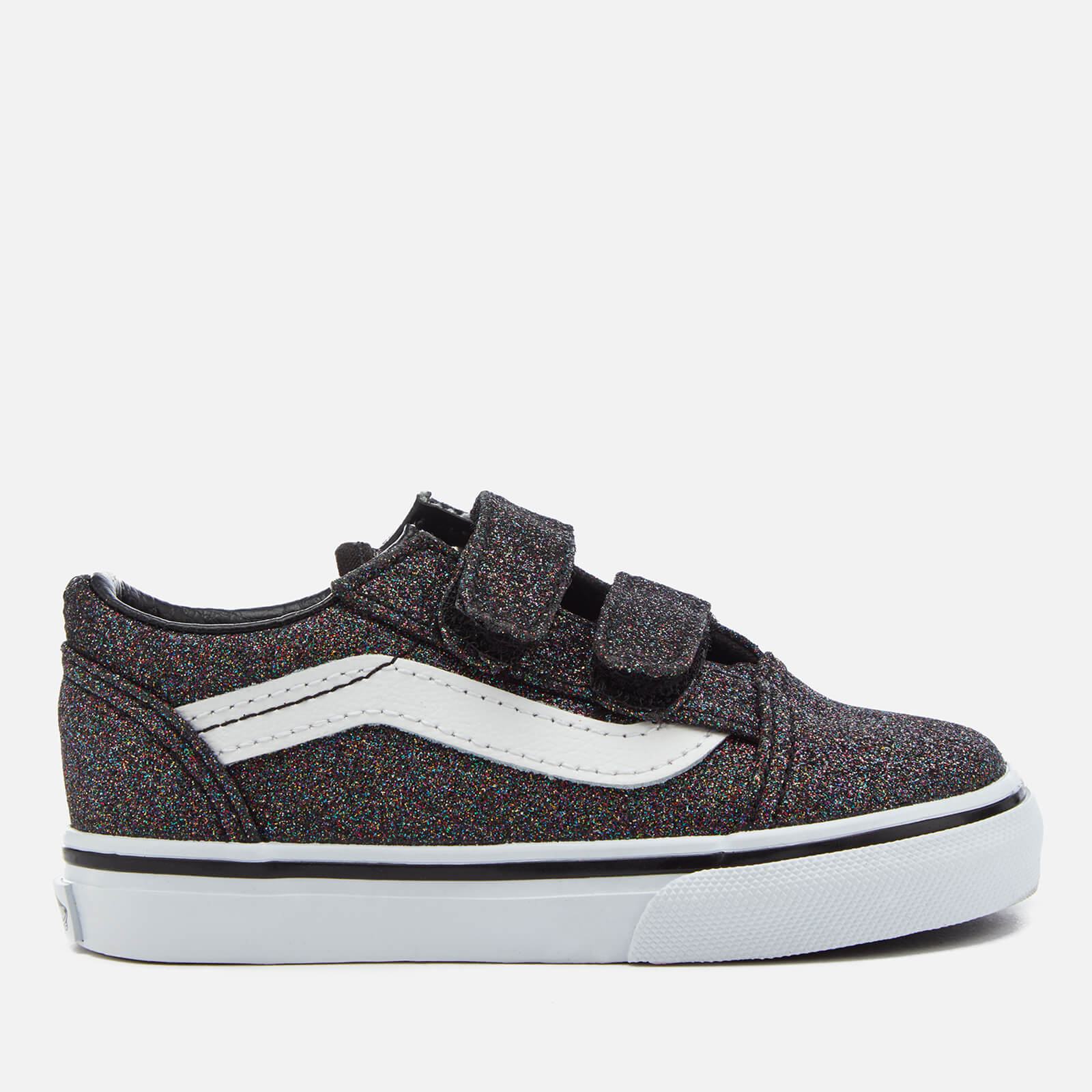 651e52d321e4 Vans Toddlers' Glitter Velcro Old Skool Trainers - Rainbow Black | FREE UK  Delivery | Allsole