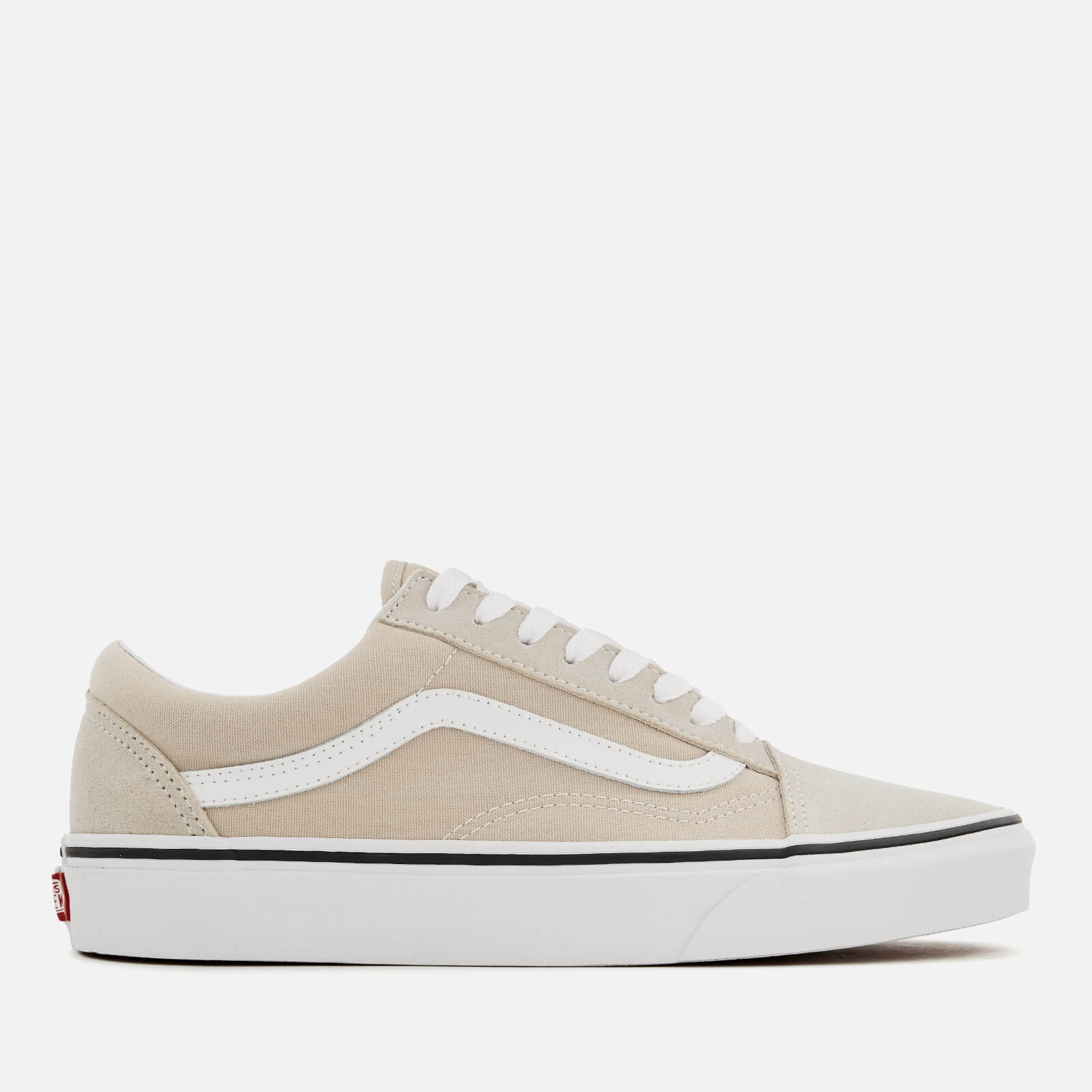 099d8f102a Vans Men s Old Skool Trainers - Silver Lining True White Mens Footwear