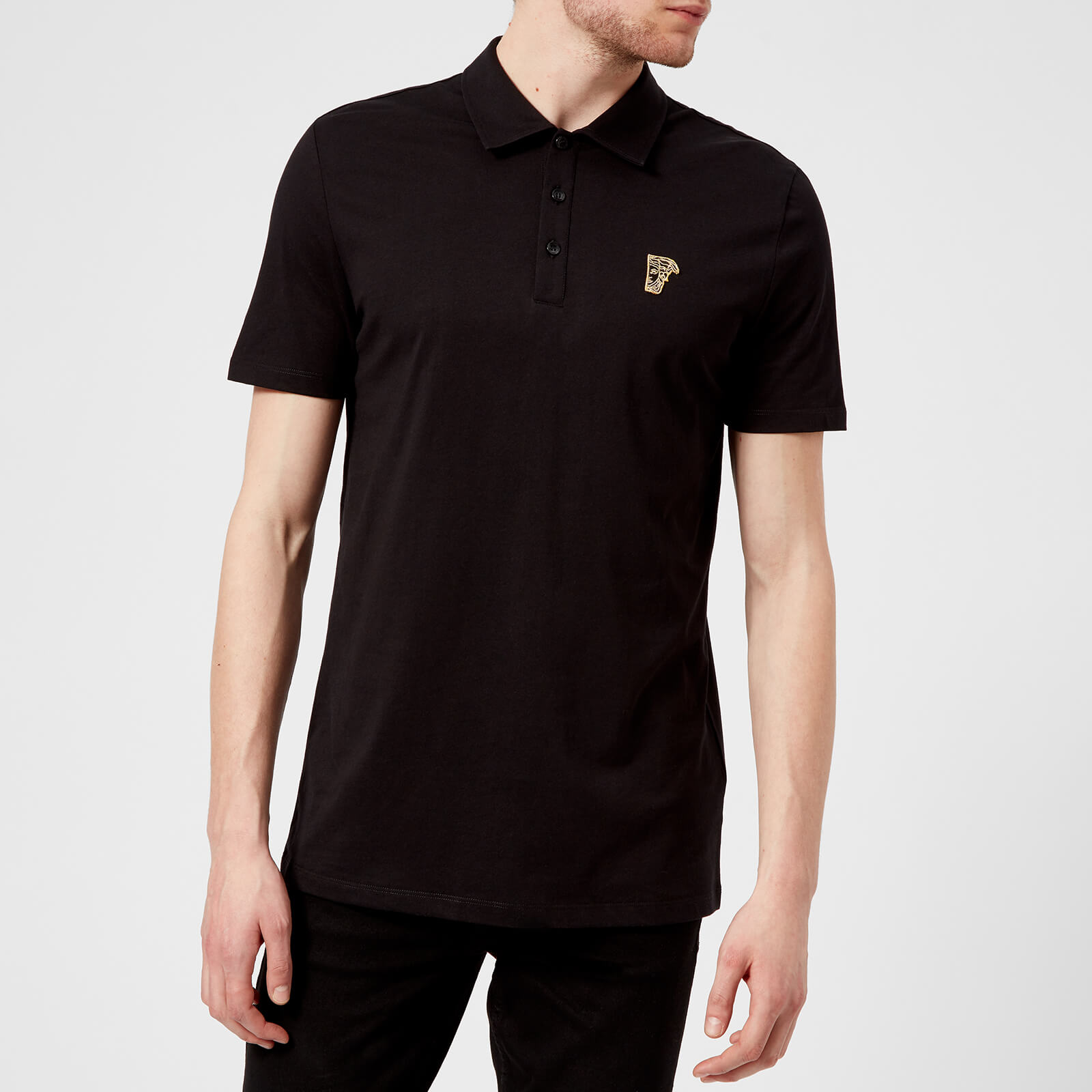 79893e8a Versace Collection Men's Basic Polo Shirt - Black - Free UK Delivery over  £50