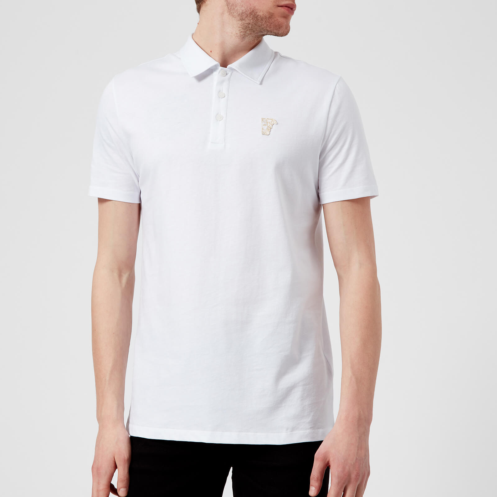 b716e4e312e17 Versace Collection Men s Basic Polo Shirt - White - Free UK Delivery over £ 50