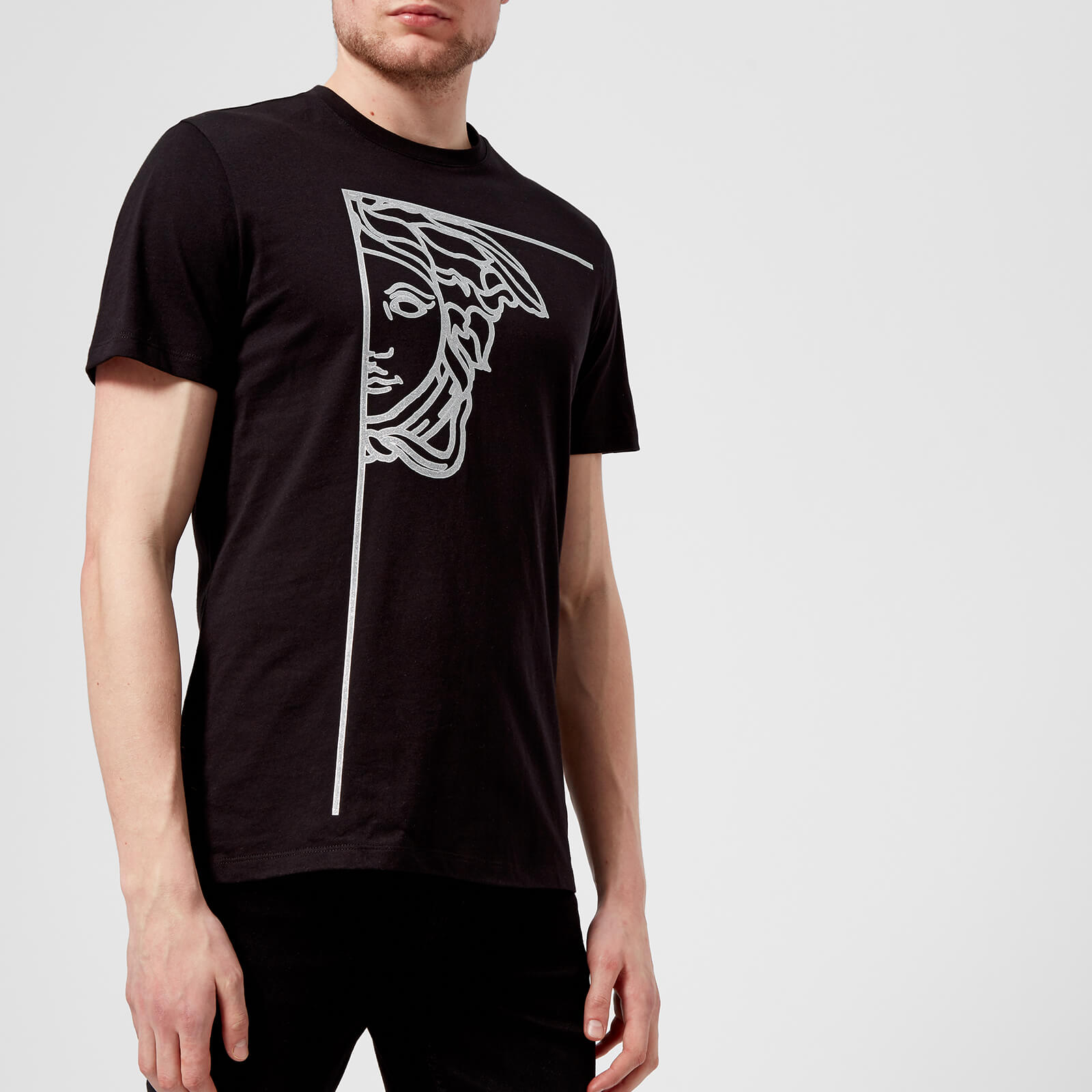 7fe947b20 Versace Collection Men's Medusa Logo T-Shirt - Nero - Free UK Delivery over  £50