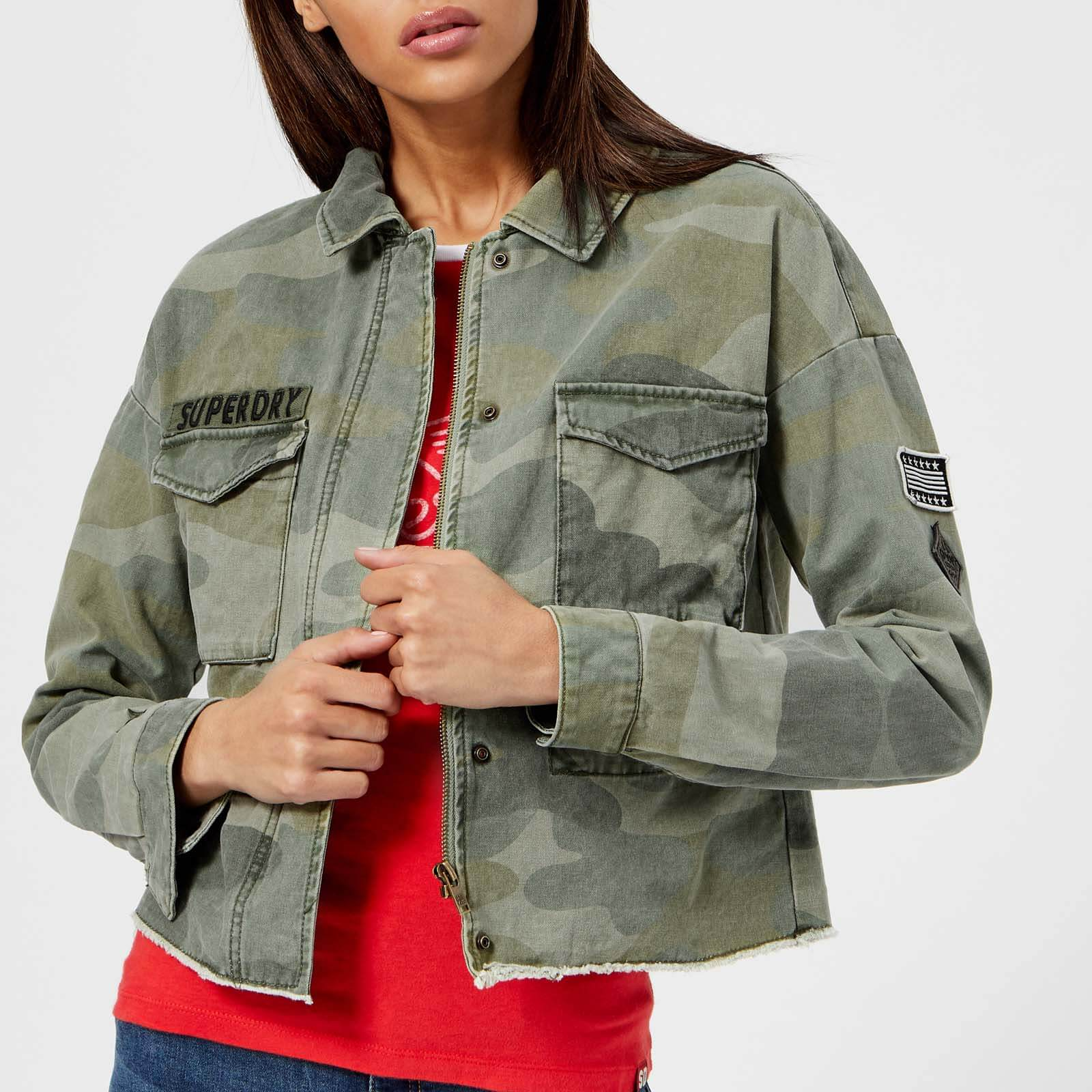 best sneakers b073f 01271 Superdry Women's Crop Utility Jacket - Washed Camo