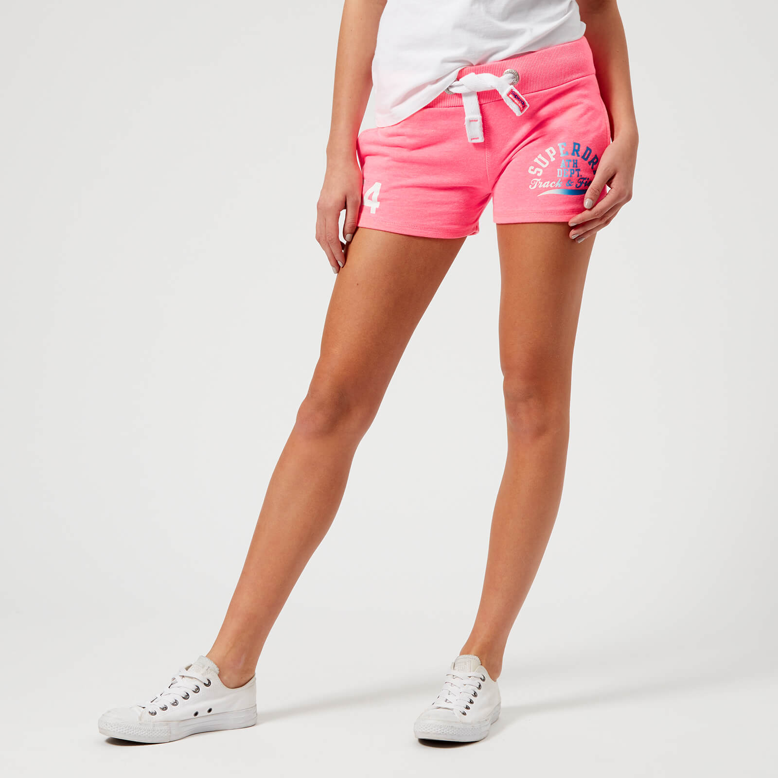 98848a3897eca3 Superdry Women's Track & Field Lite Shorts - Casette Pink Snowy Womens  Clothing | TheHut.com