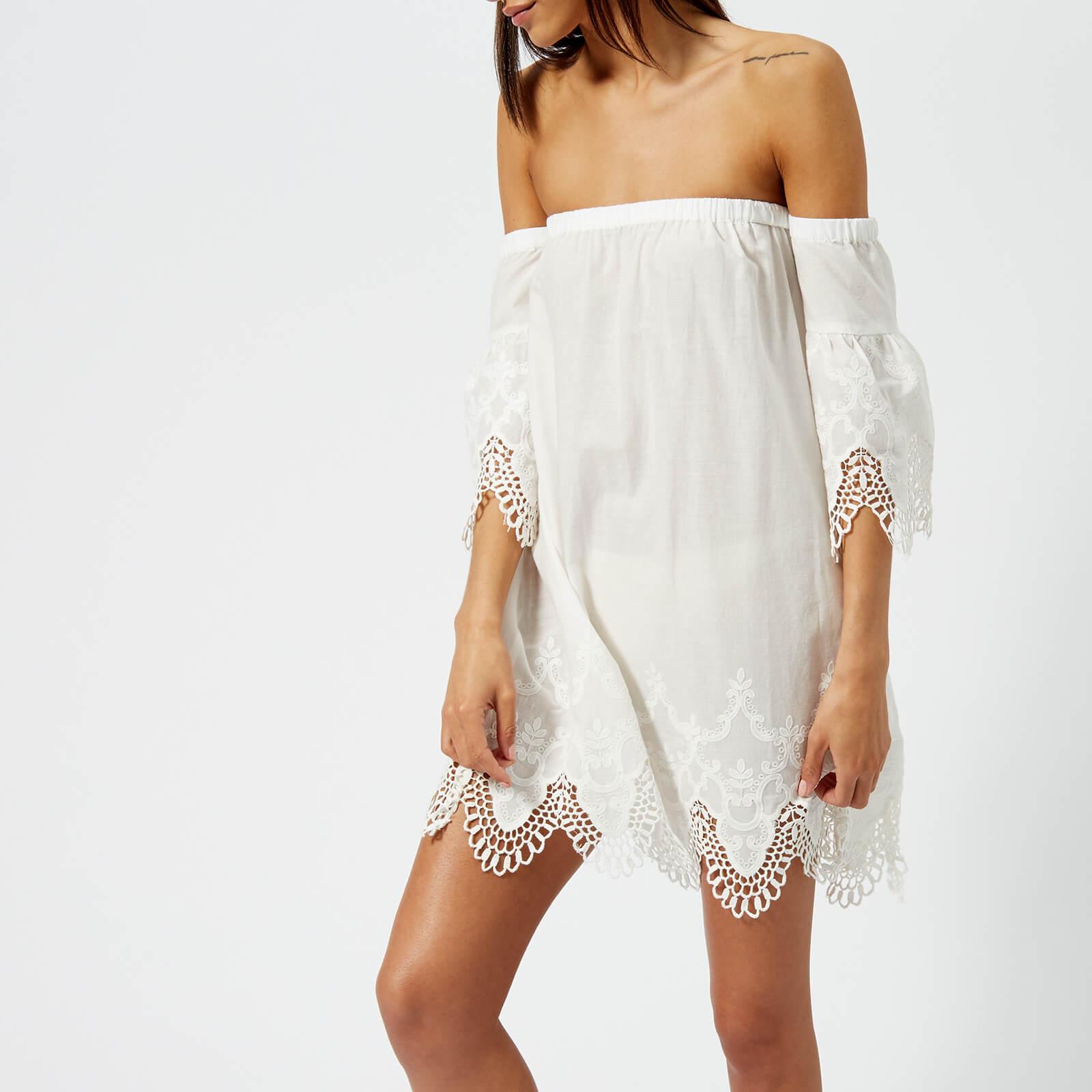 e363d4f814e MINKPINK Women's Charlotte Broderie Off the Shoulder Dress - White Womens  Clothing | TheHut.com