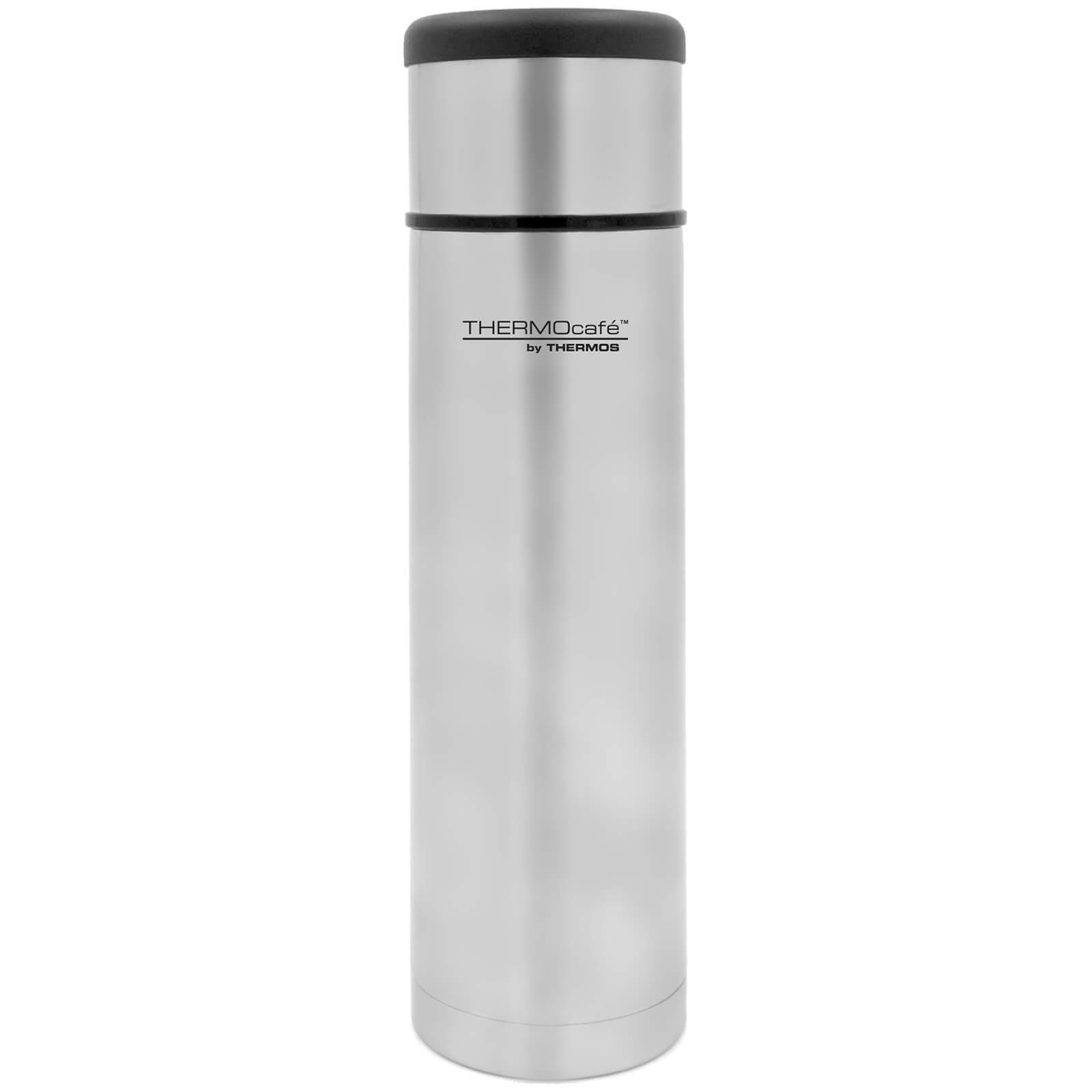Thermos ThermoCafe Flat Top Stainless Steel Flask 1L