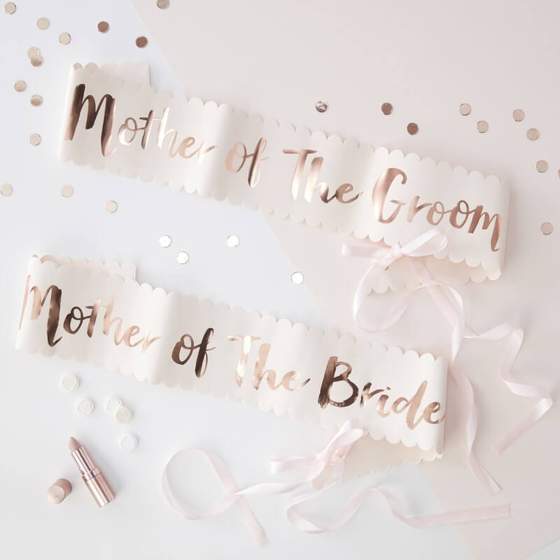 Ginger Ray Mother of the Bride/Groom Sash - Pink/Rose Gold
