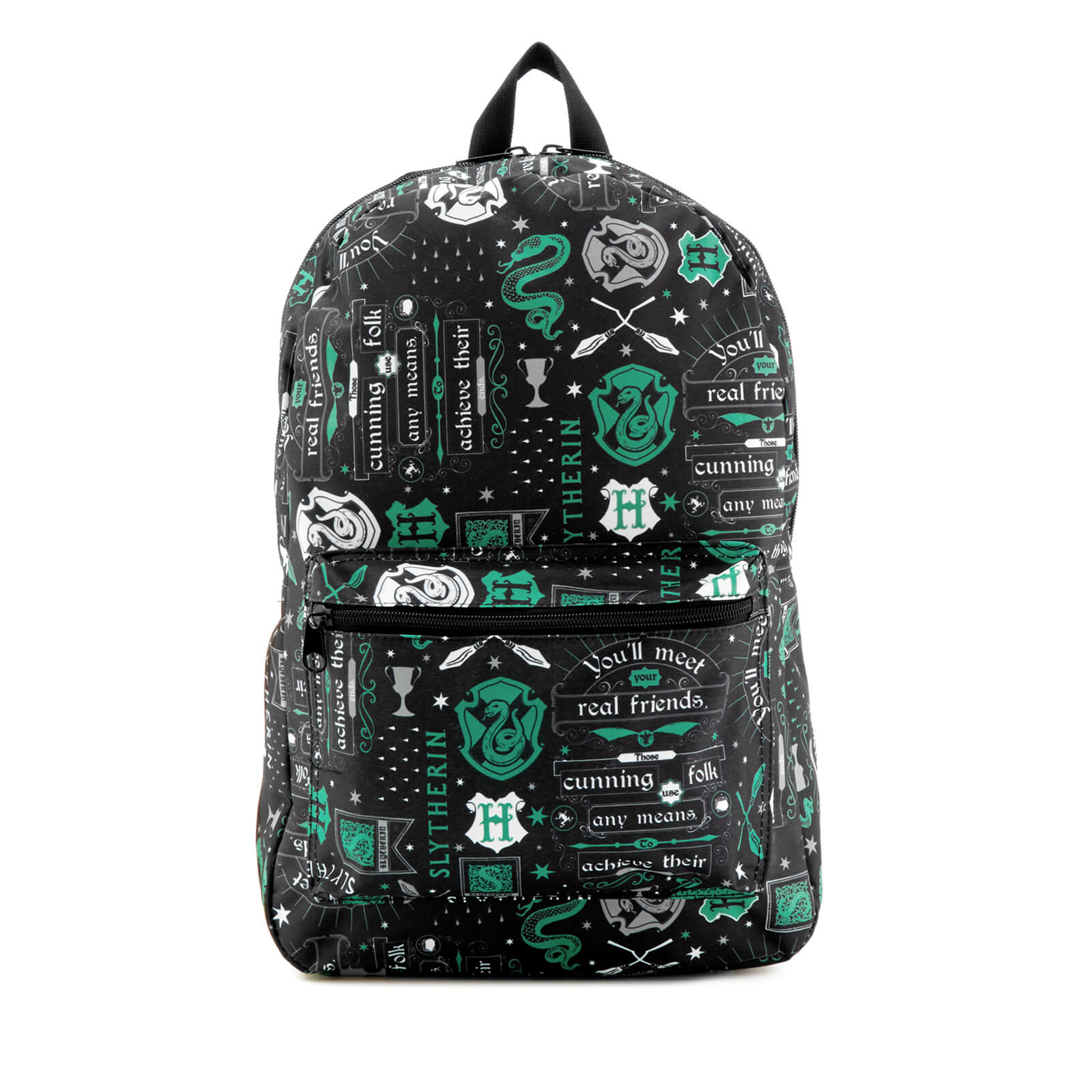 Harry Potter Slytherin Icon Sublimated Backpack - Black