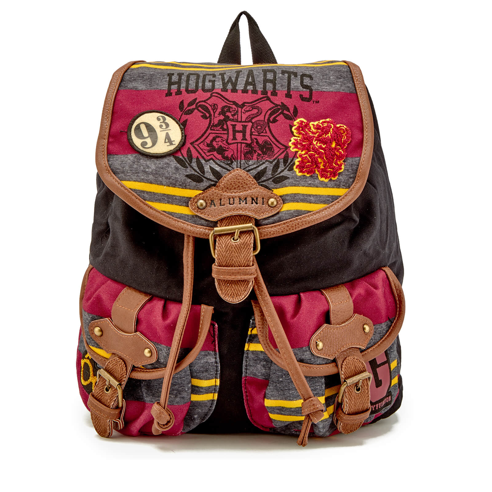 Harry Potter Patch Backpack - Black