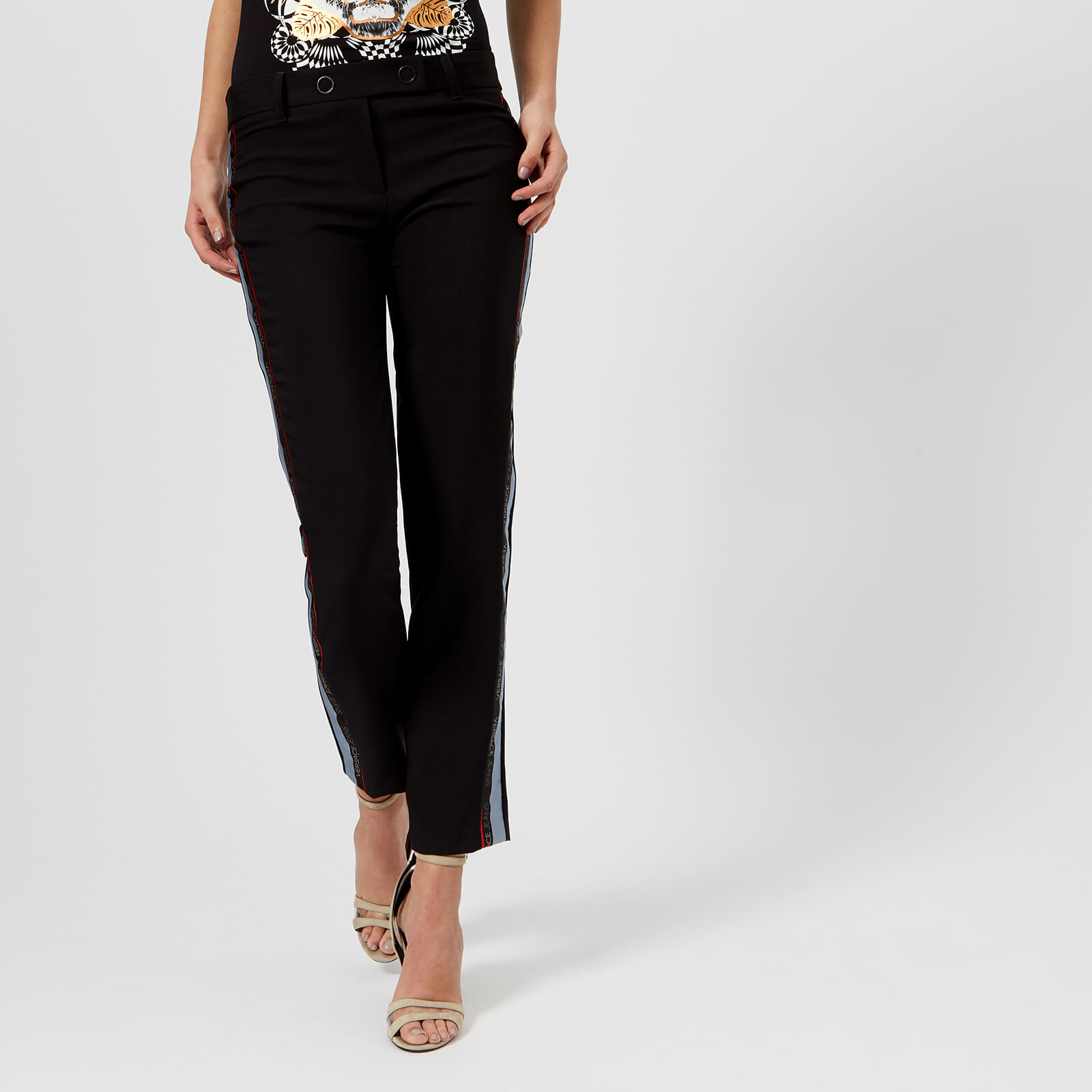 5df61bc9df9a Versace Jeans Women's Stripe Trousers - Black Womens Clothing | TheHut.com