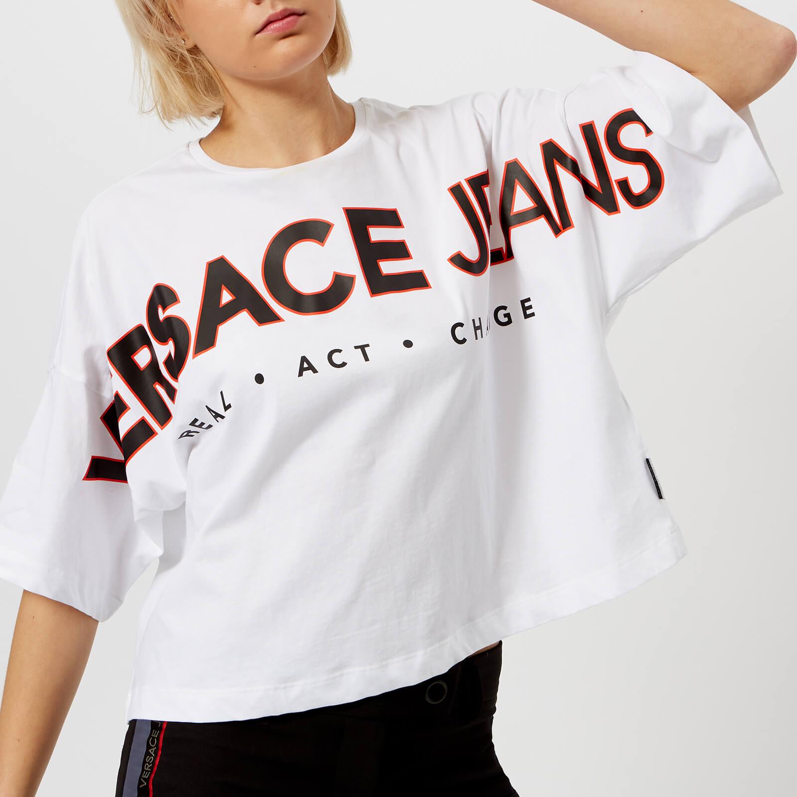 b4a3f8e5 Versace Jeans Women's Oversized Logo T-Shirt - White