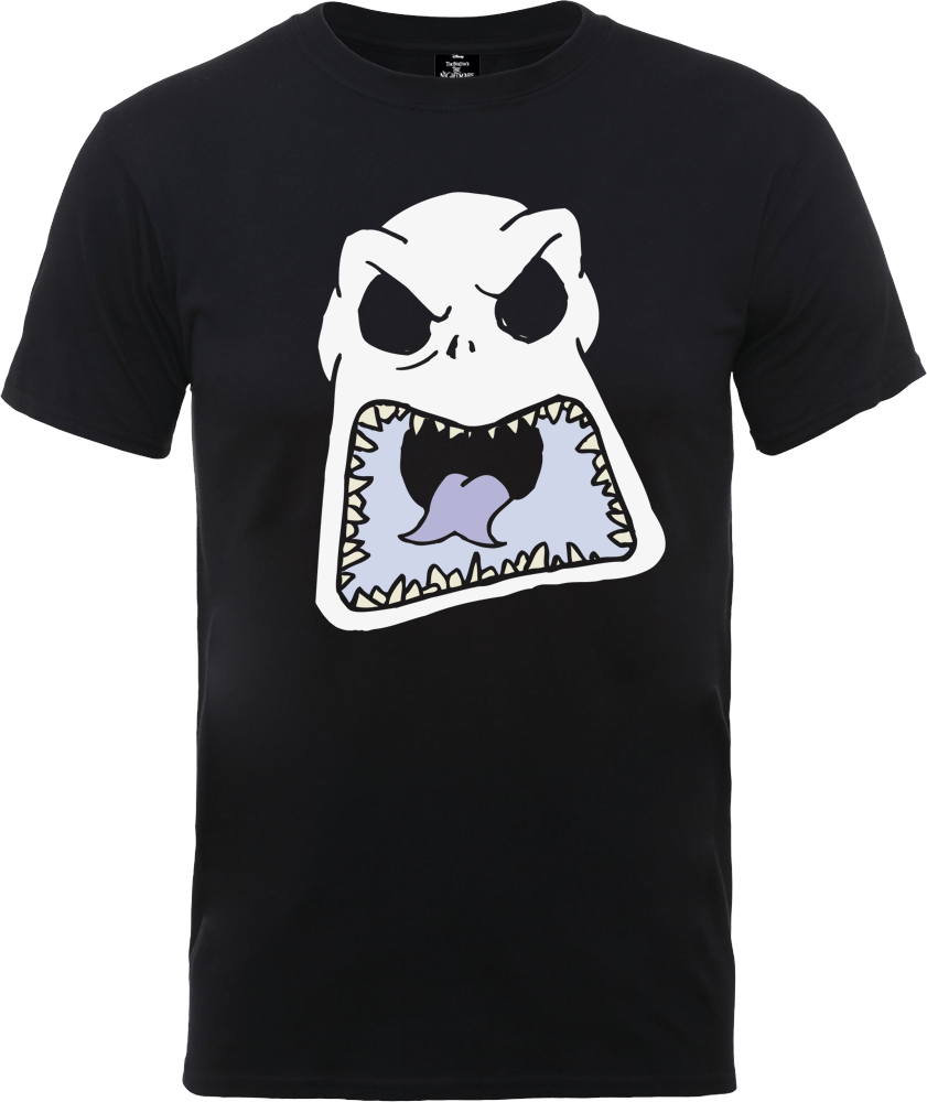 The Nightmare Before Christmas Jack Skellington Angry Face Black T-Shirt