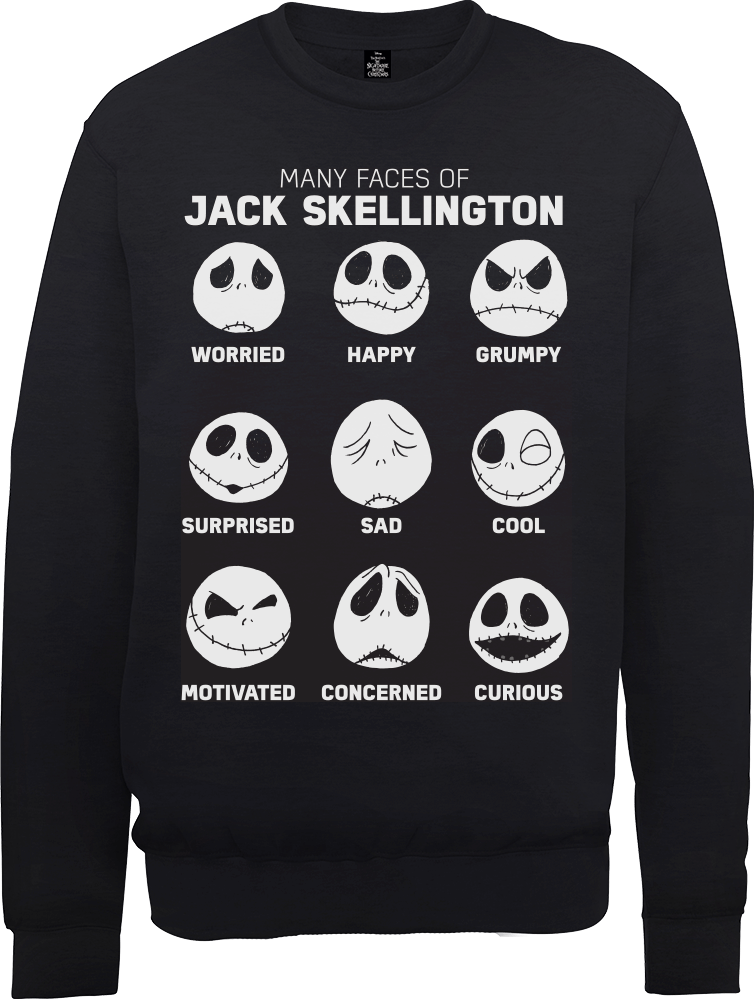 The Nightmare Before Christmas Jack Pumpkin Faces Black Sweatshirt