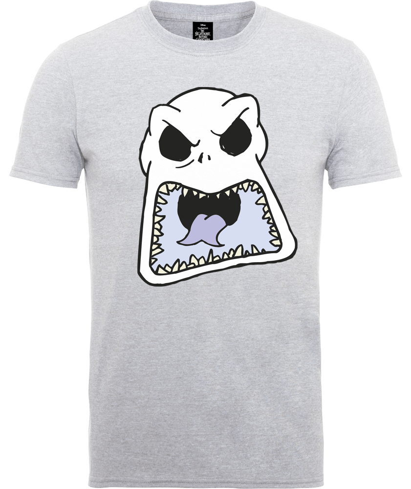 The Nightmare Before Christmas Jack Skellington Angry Face Grey T-Shirt