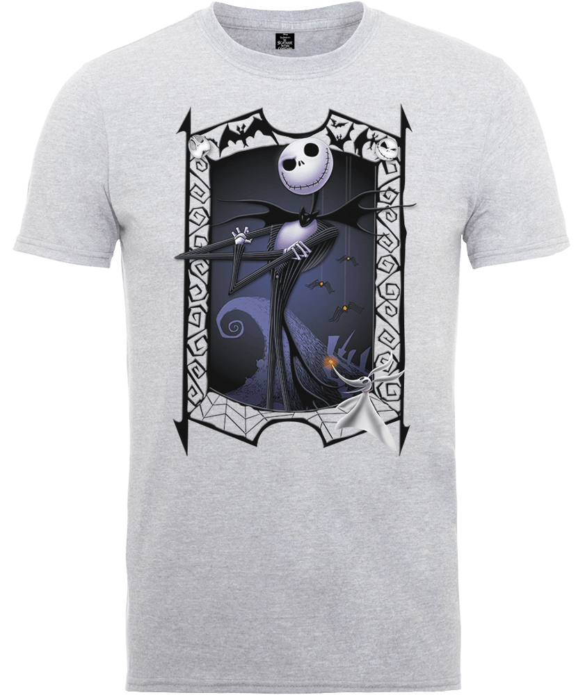 The Nightmare Before Christmas Jack Skellington Zero Pose Grey T-Shirt