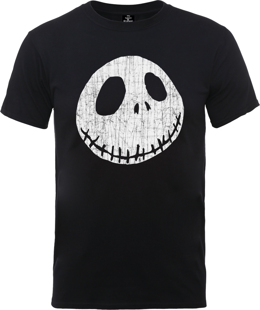 The Nightmare Before Christmas Jack Skellington Crinkle Black T-Shirt