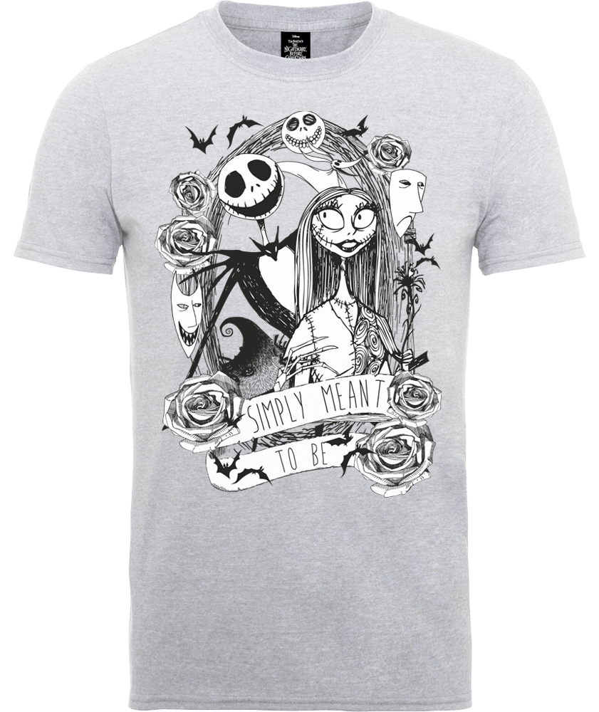 The Nightmare Before Christmas Jack Skellington And Sally Grey T ...