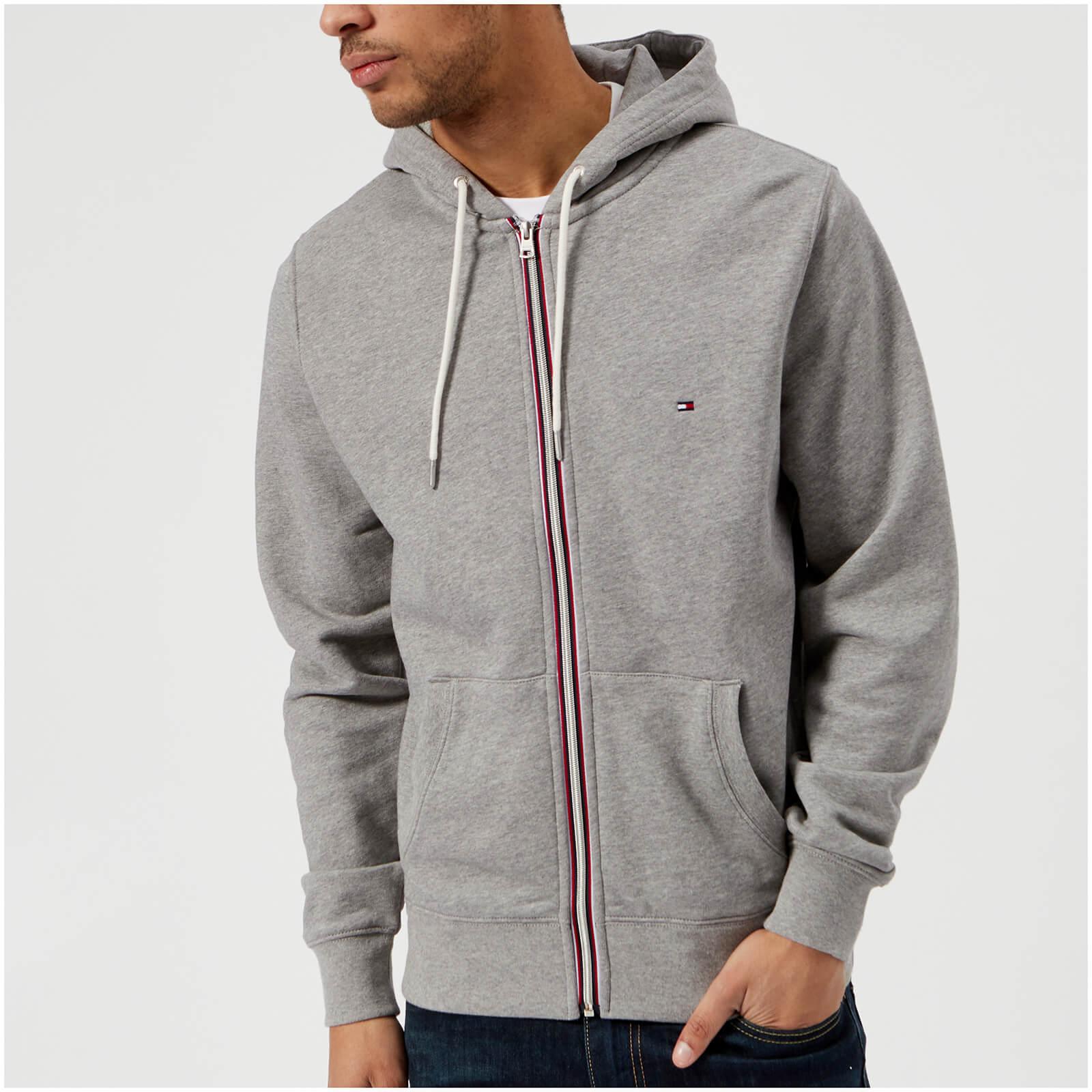 a5c22d17 Tommy Hilfiger Men's Basic Hooded Zip Through Sweatshirt - Cloud Heather  Mens Clothing | TheHut.com