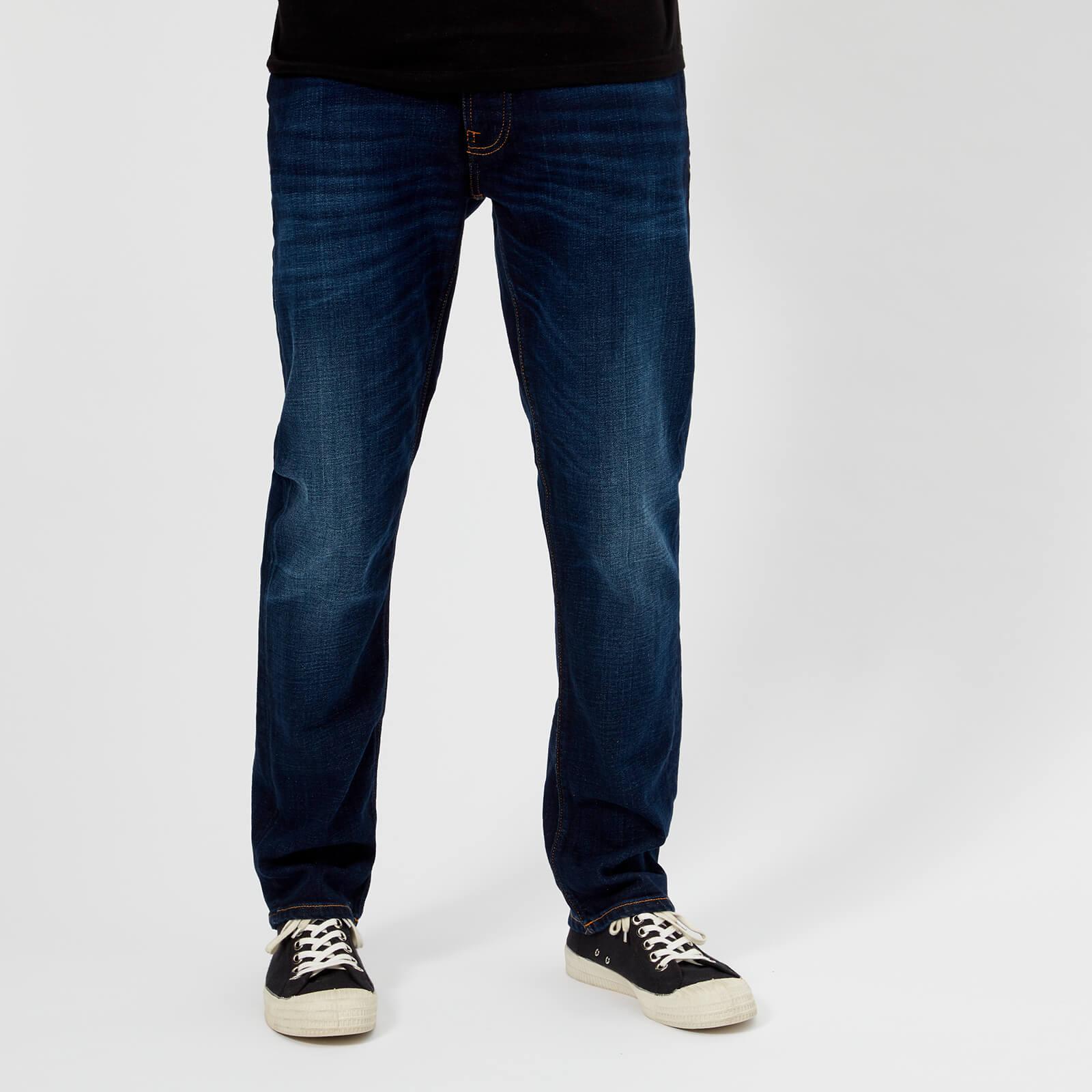 943b673b1c01e Nudie Jeans Men s Dude Dan Straight Jeans - Dark Deep Worn Mens Clothing