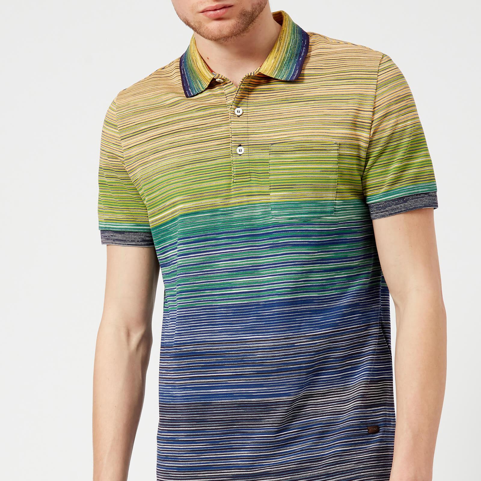 c723c9b3912a Missoni Men's Multi Stripe Classic Polo Shirt - Multi - Free UK Delivery  over £50
