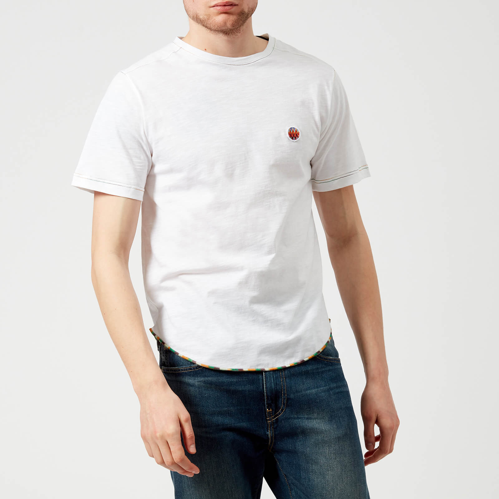 a72615271489 Missoni Men s Small Logo T-Shirt - White - Free UK Delivery over £50