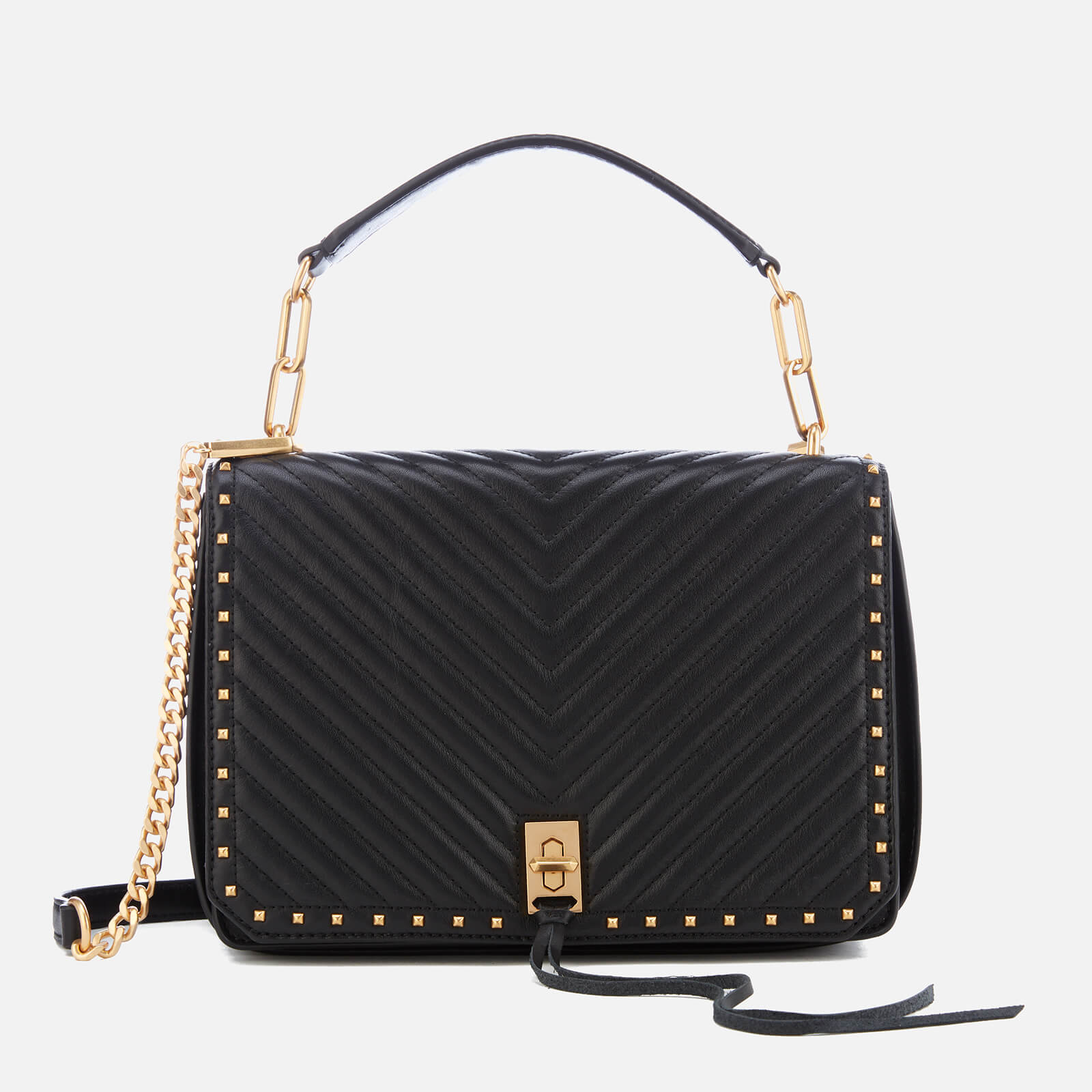 4a63d99548 Rebecca Minkoff Women s Medium Becky Shoulder Bag - Black - Free UK ...