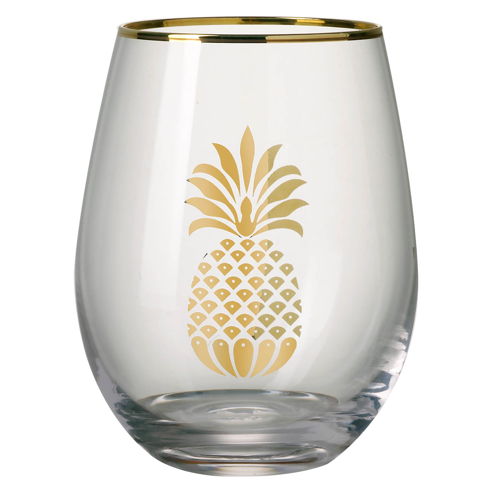 Parlane Pineapple Glass - Gold/Clear