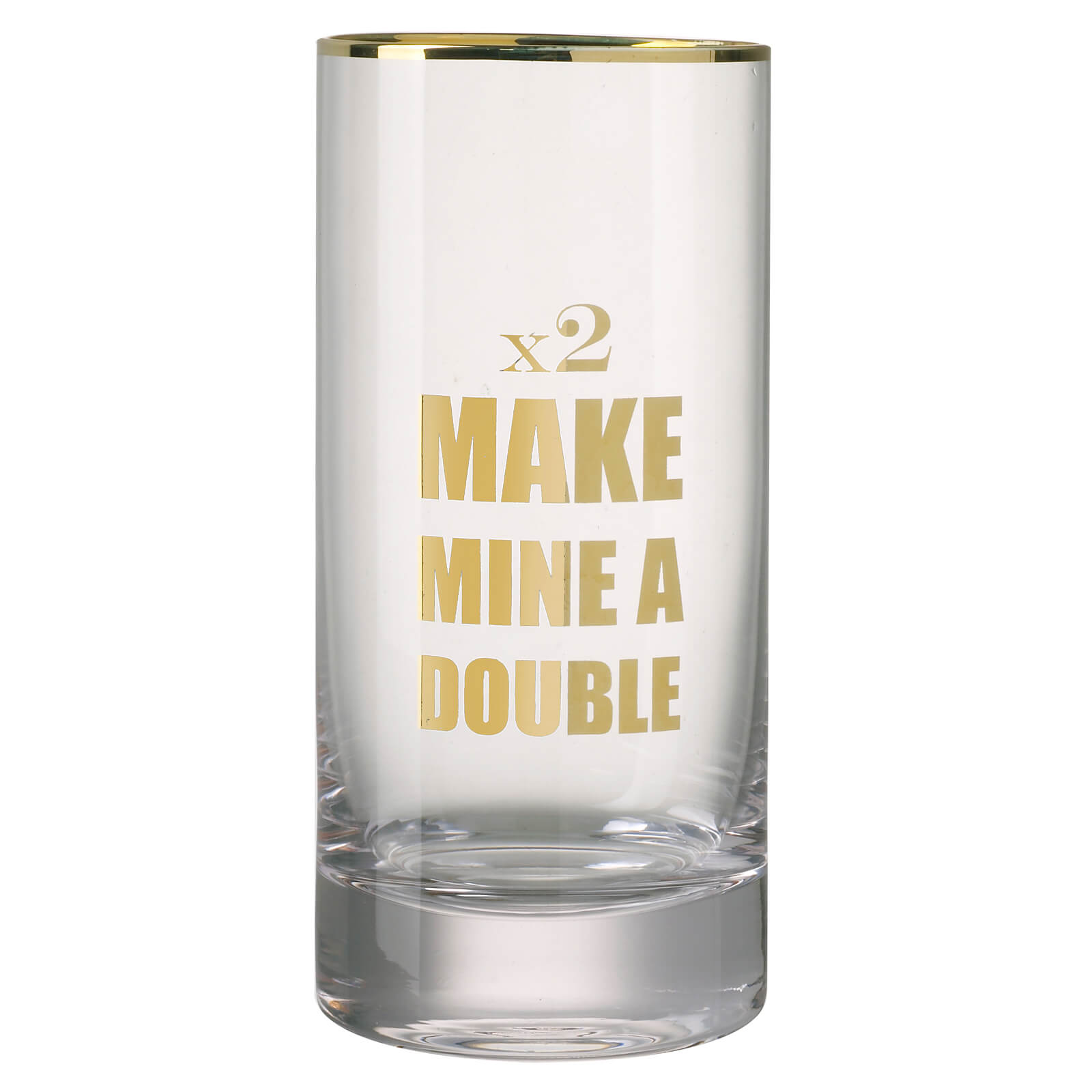 Parlane Double Hiball Glass - Clear/Gold