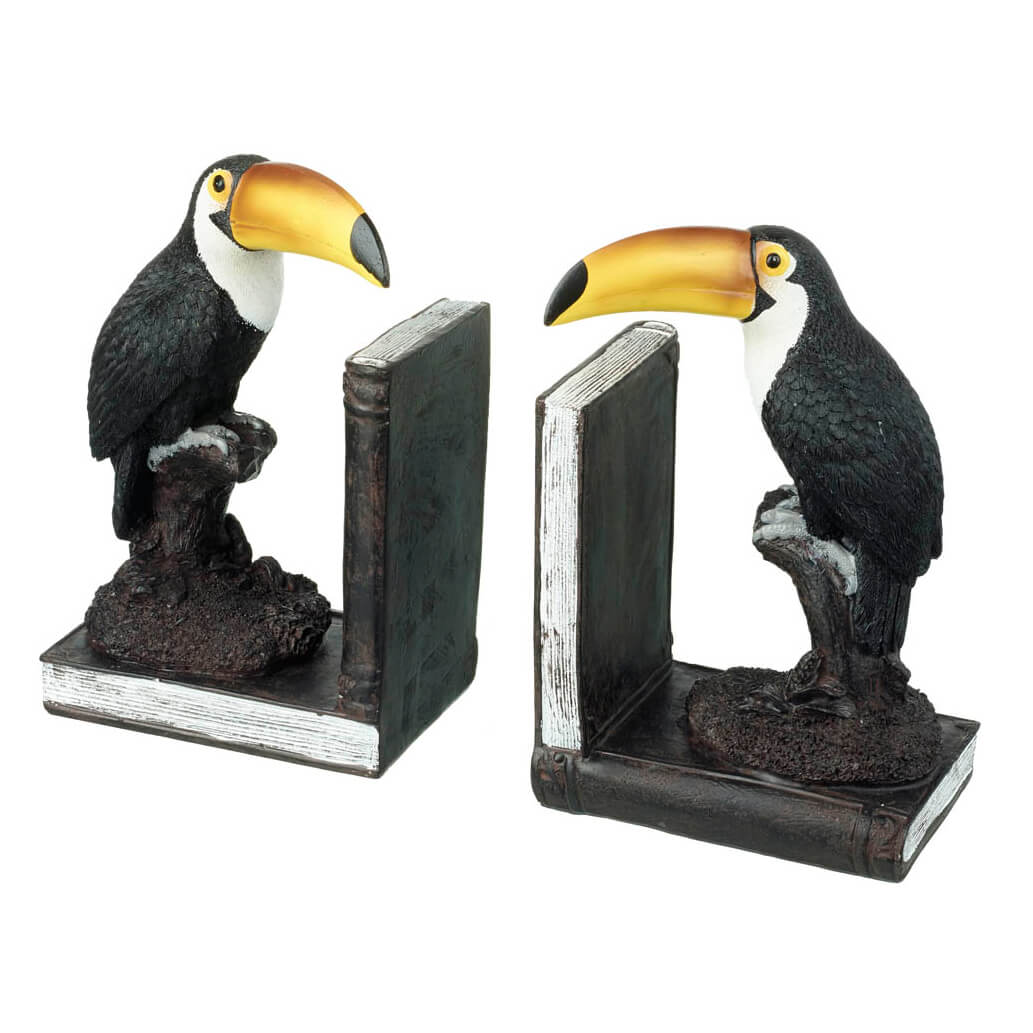 Parlane Toucan Bookends - Brown/Black/Yellow