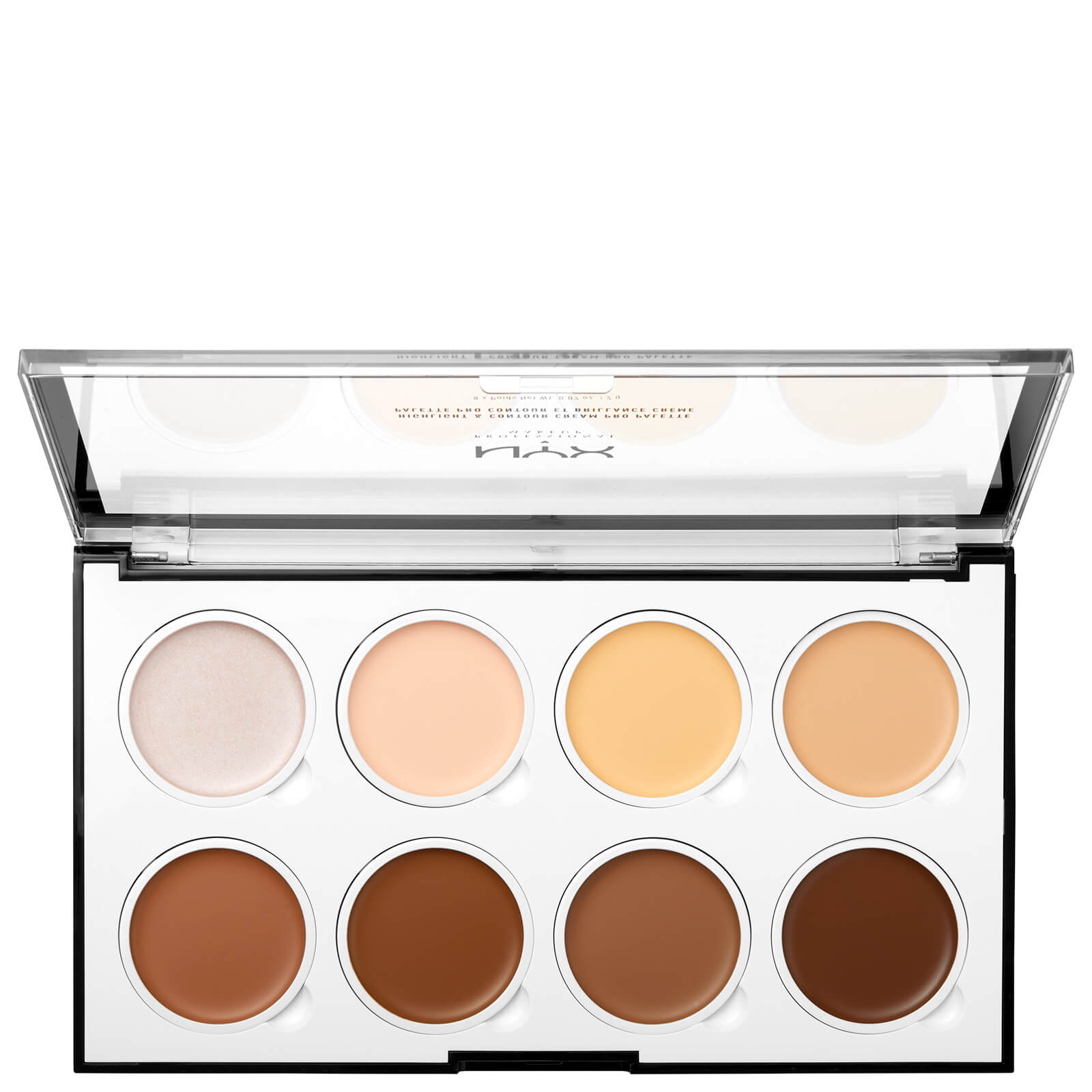 NYX Professional Makeup Highlight & Contour Cream Pro Palette | Free Shipping | Lookfantastic