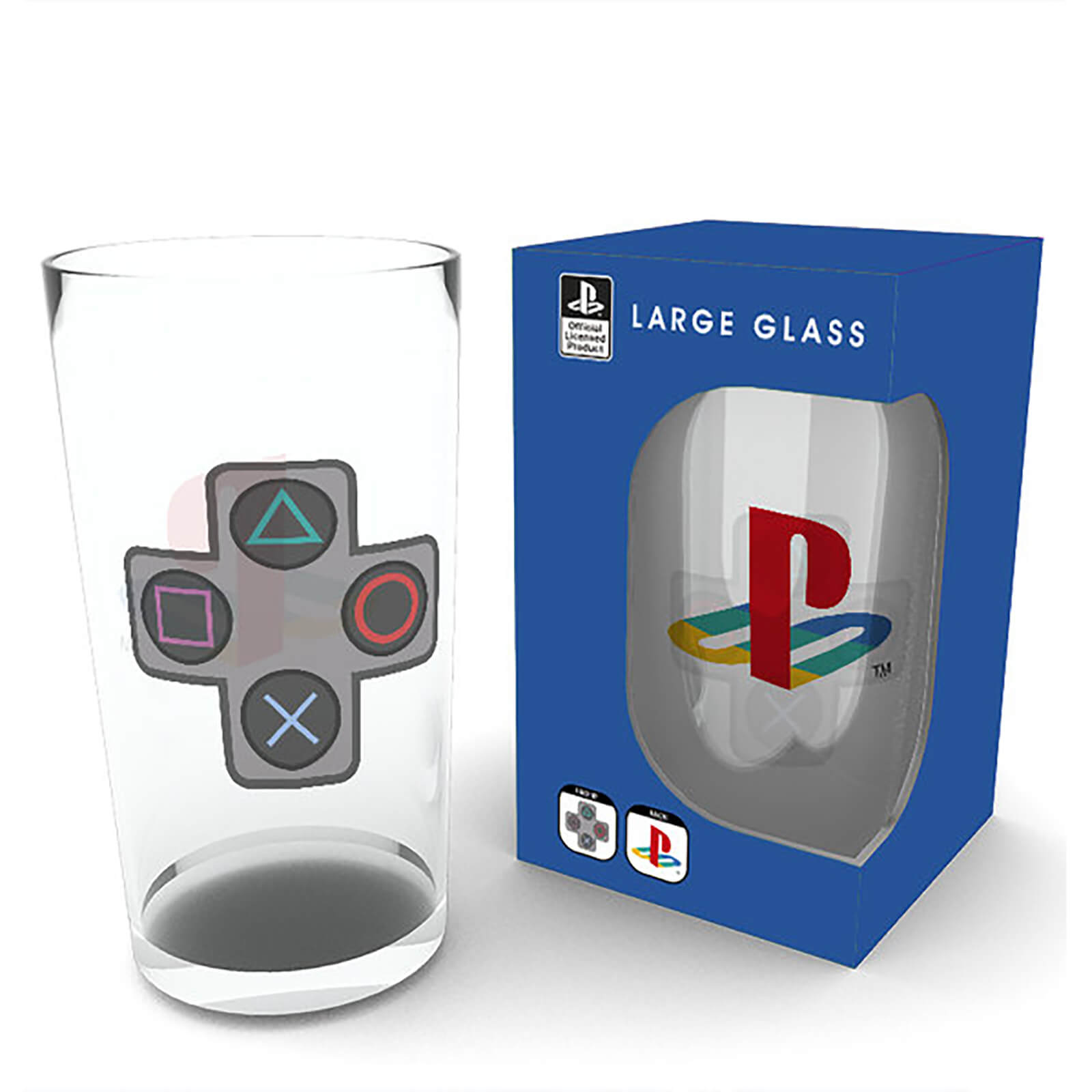 Playstation Buttons Large Glasses 16oz